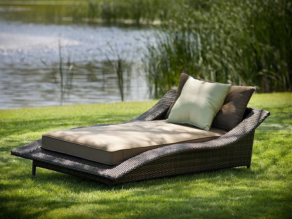 Newest Outdoor Double Chaise Lounges Intended For Incredible Outdoor Double Chaise Lounge Simple Of Style And Green (View 8 of 15)