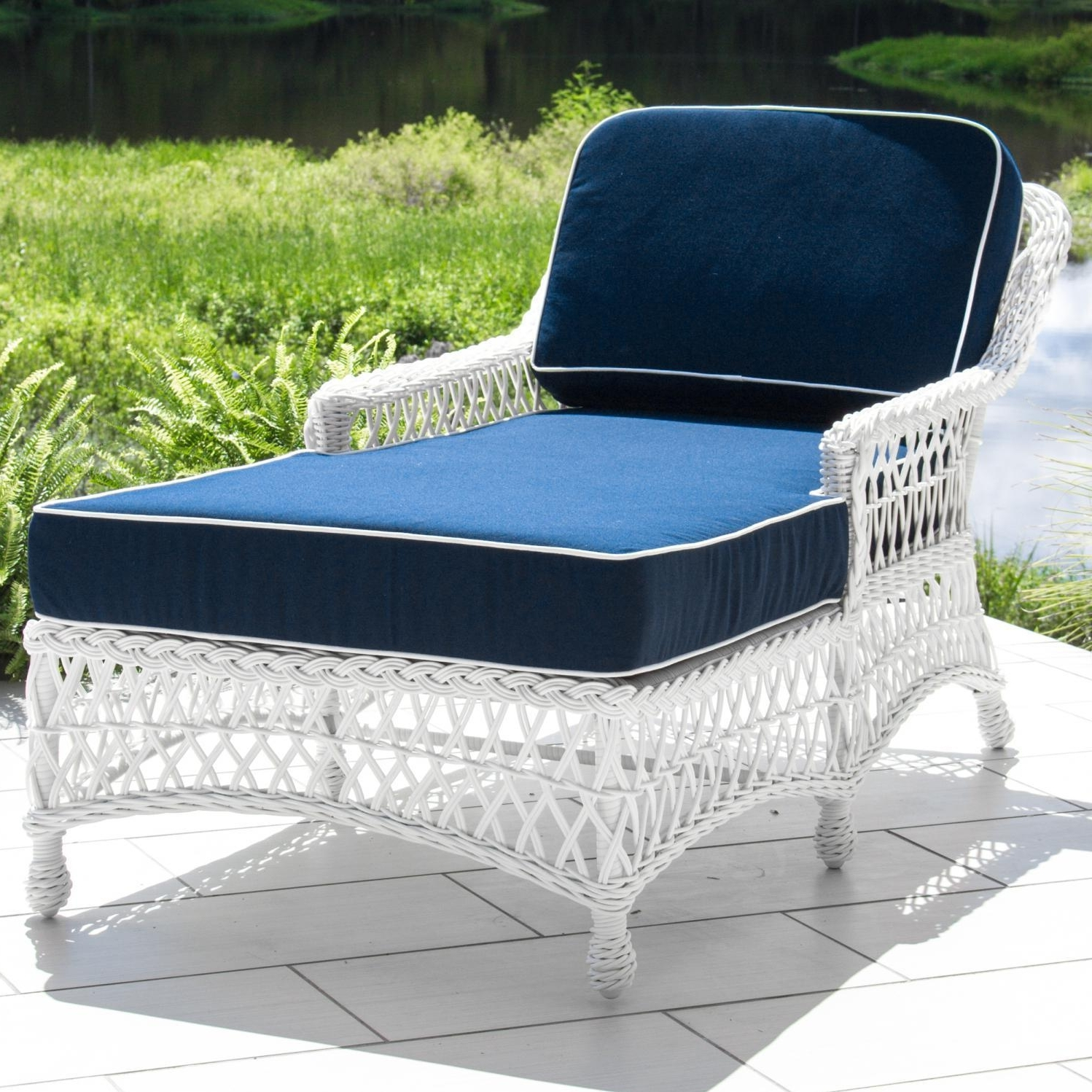 Newest Outdoor Wicker Chaise Lounges Pertaining To Outdoor : Affordable Chaise Lounges Chaise Lounge Patio Furniture (View 4 of 15)