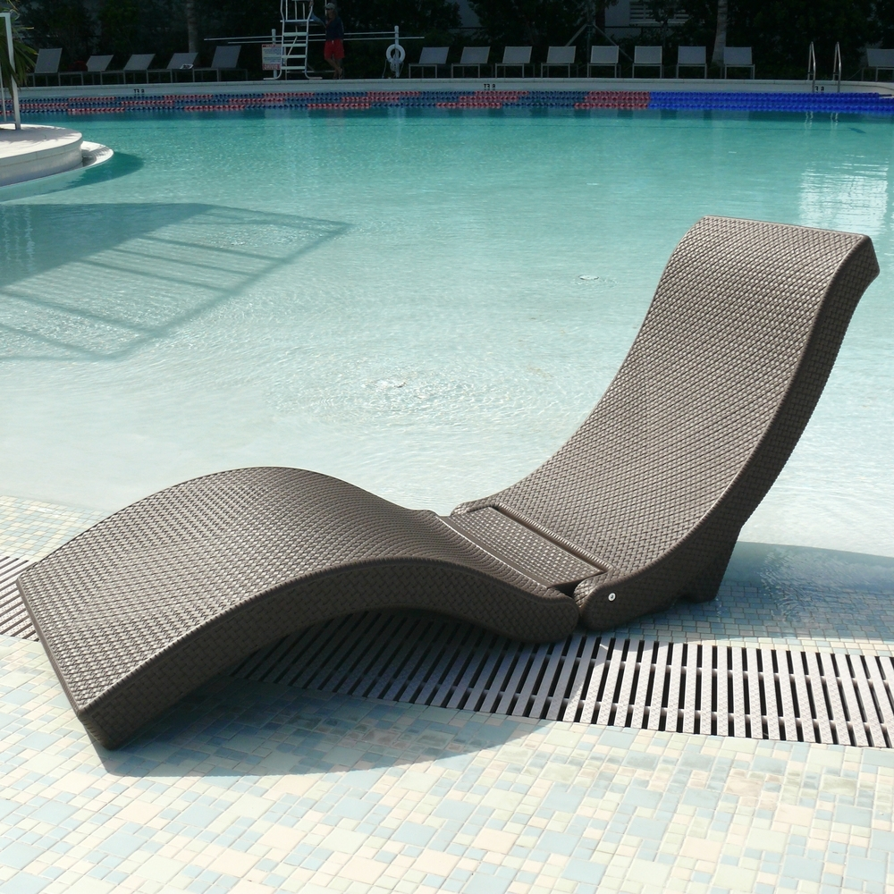 Newest Overstock Chaise Lounges Pertaining To The Splashlounger Chaise/ Pool Floater Chair (View 14 of 15)