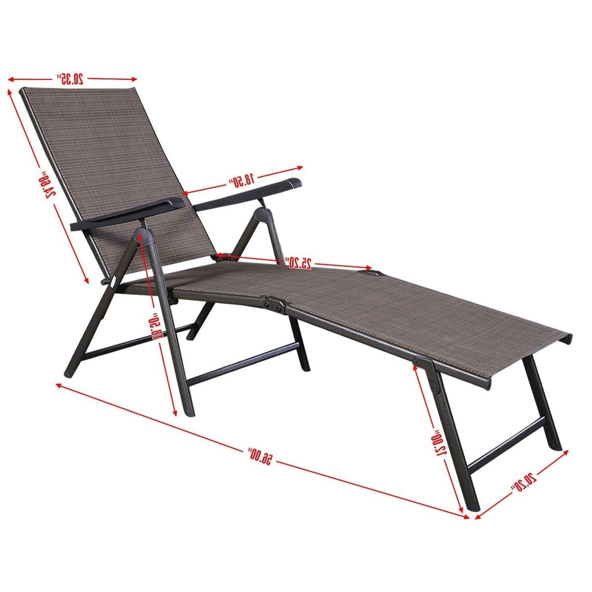 Newest Patio Furniture Textilene Adjustable Pool Chaise Lounge Chair Pertaining To Adjustable Pool Chaise Lounge Chair Recliners (View 8 of 15)