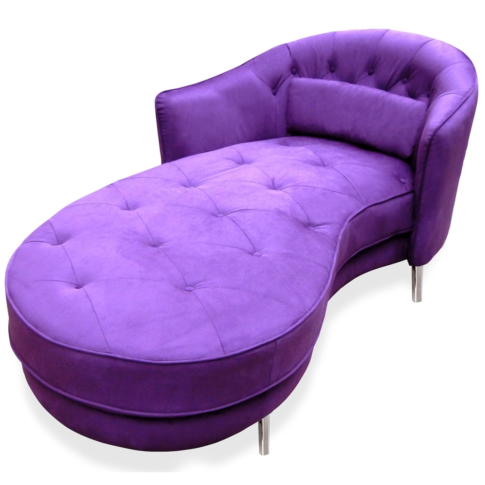 Newest Purple Chaise Lounges Throughout Modern Purple Tufted Victoria Chaise Lounge (View 2 of 15)