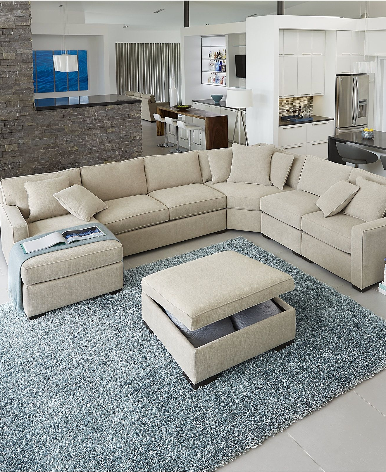 Newest Radley Fabric Sectional Sofa Collection, Created For Macy's Throughout Macys Sectional Sofas (View 4 of 15)