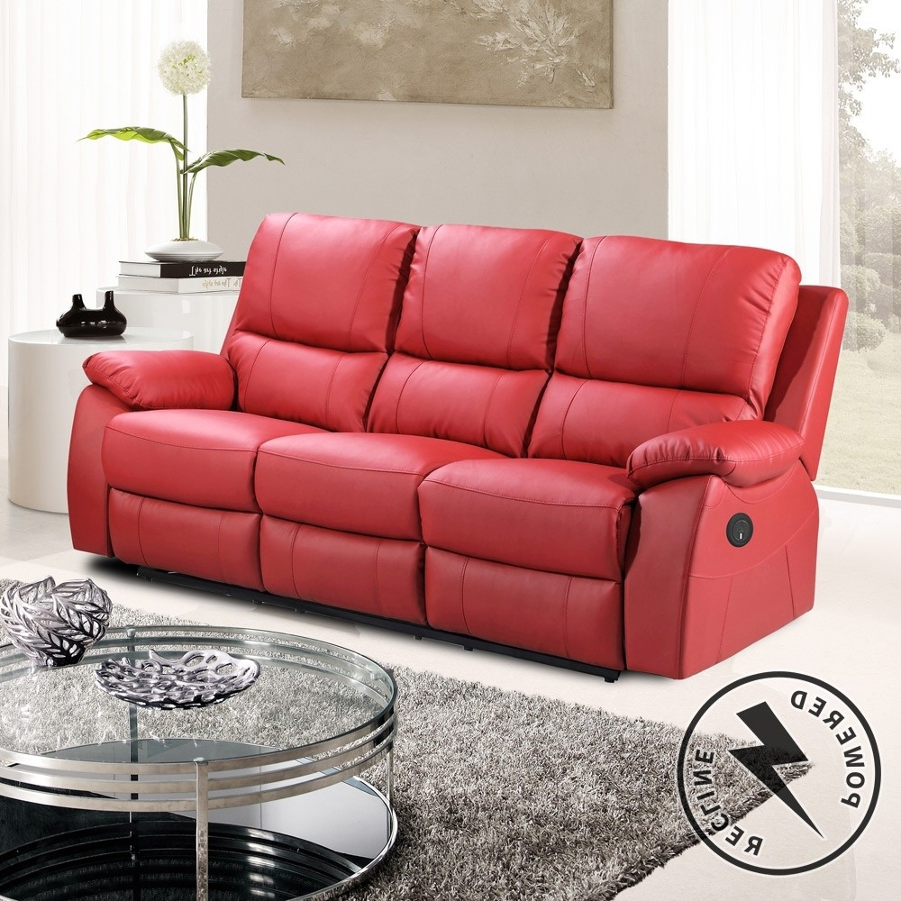 Newest Red Leather Reclining Sofas And Loveseats Pertaining To Sofa : Dual Reclining Loveseat Lazy Boy Reclining Sofa Costco (View 10 of 15)
