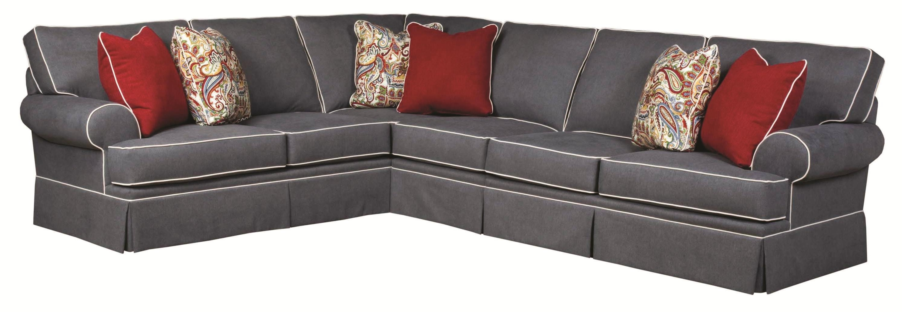 Newest Sectional Sofas At Broyhill Intended For Broyhill Furniture Emily Traditional 3 Piece Sectional Sofa With (View 4 of 15)