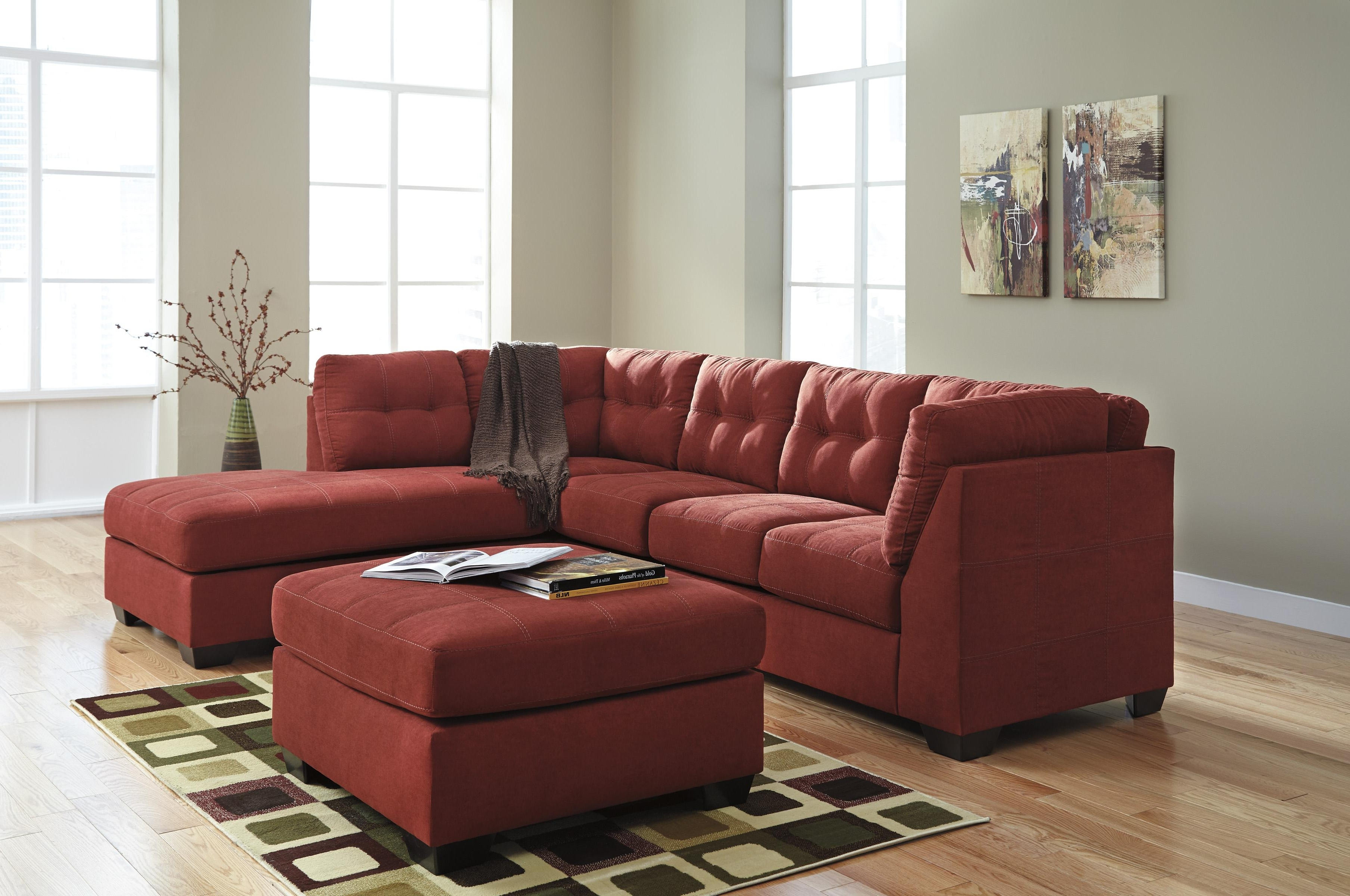 Newest Sectional Sofas With 2 Chaises Pertaining To Benchcraft Maier – Sienna 2 Piece Sectional W/ Sleeper Sofa (View 8 of 15)