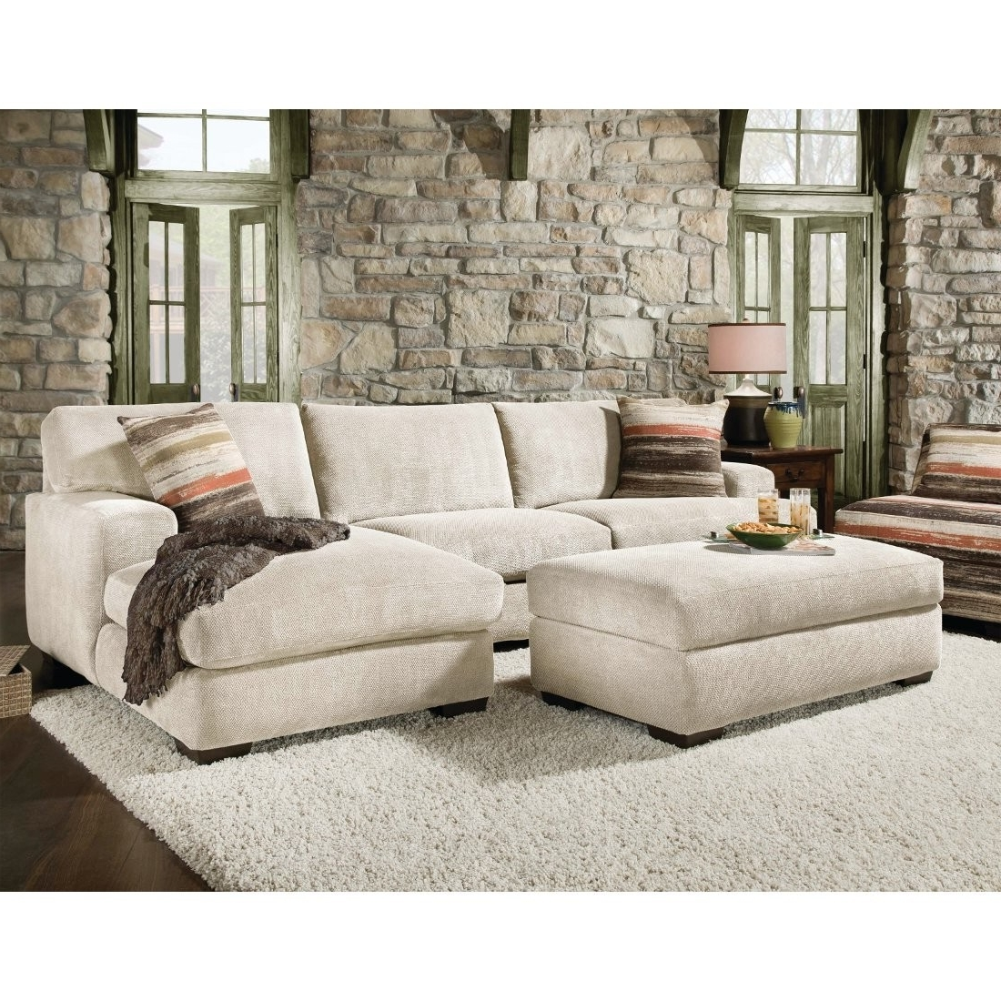 Newest Sectionals With Oversized Ottoman Inside Cozy Oversized Sectional Sofa — Awesome Homes : Super Comfortable (View 7 of 15)