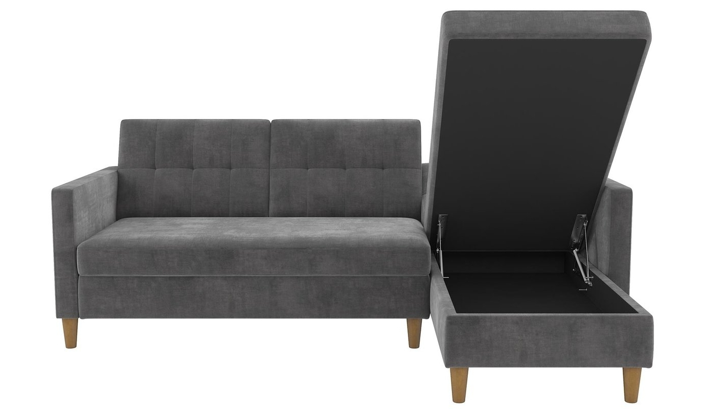 Newest Sleeper Sofas With Chaise Lounge Pertaining To Stigall Reversible Sleeper Sectional & Reviews (View 14 of 15)