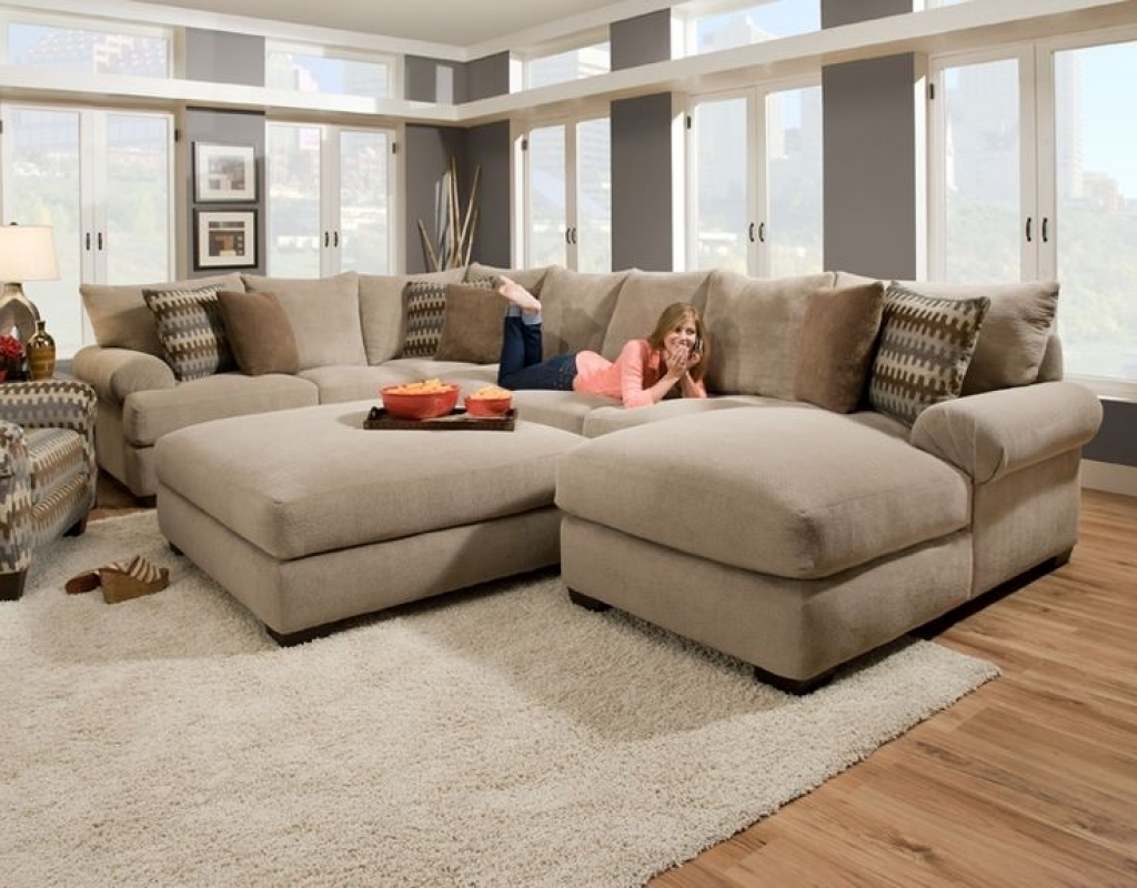 Newest Sofa Sectionals With Chaise Pertaining To Cozy Oversized Sectional Sofa — Awesome Homes : Super Comfortable (View 5 of 15)