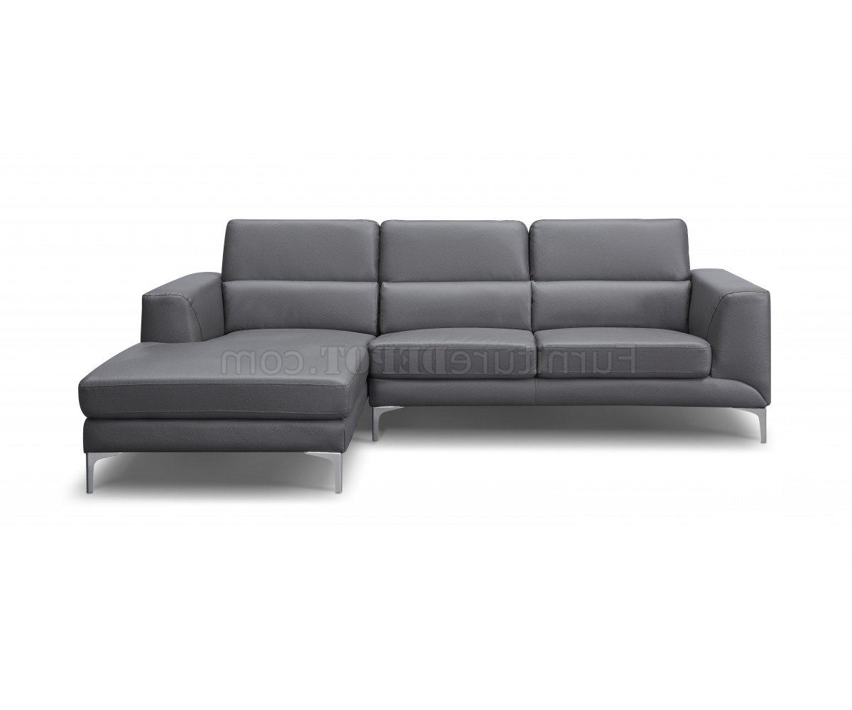 Newest Sydney Sectional Sofas With Regard To Sectional Sofa In Gray Faux Leatherwhiteline (View 6 of 15)
