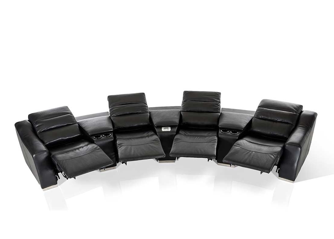 Newest Theatre Sectional Sofas With Modern Theatre Reclining Sectional Sofa (View 10 of 15)