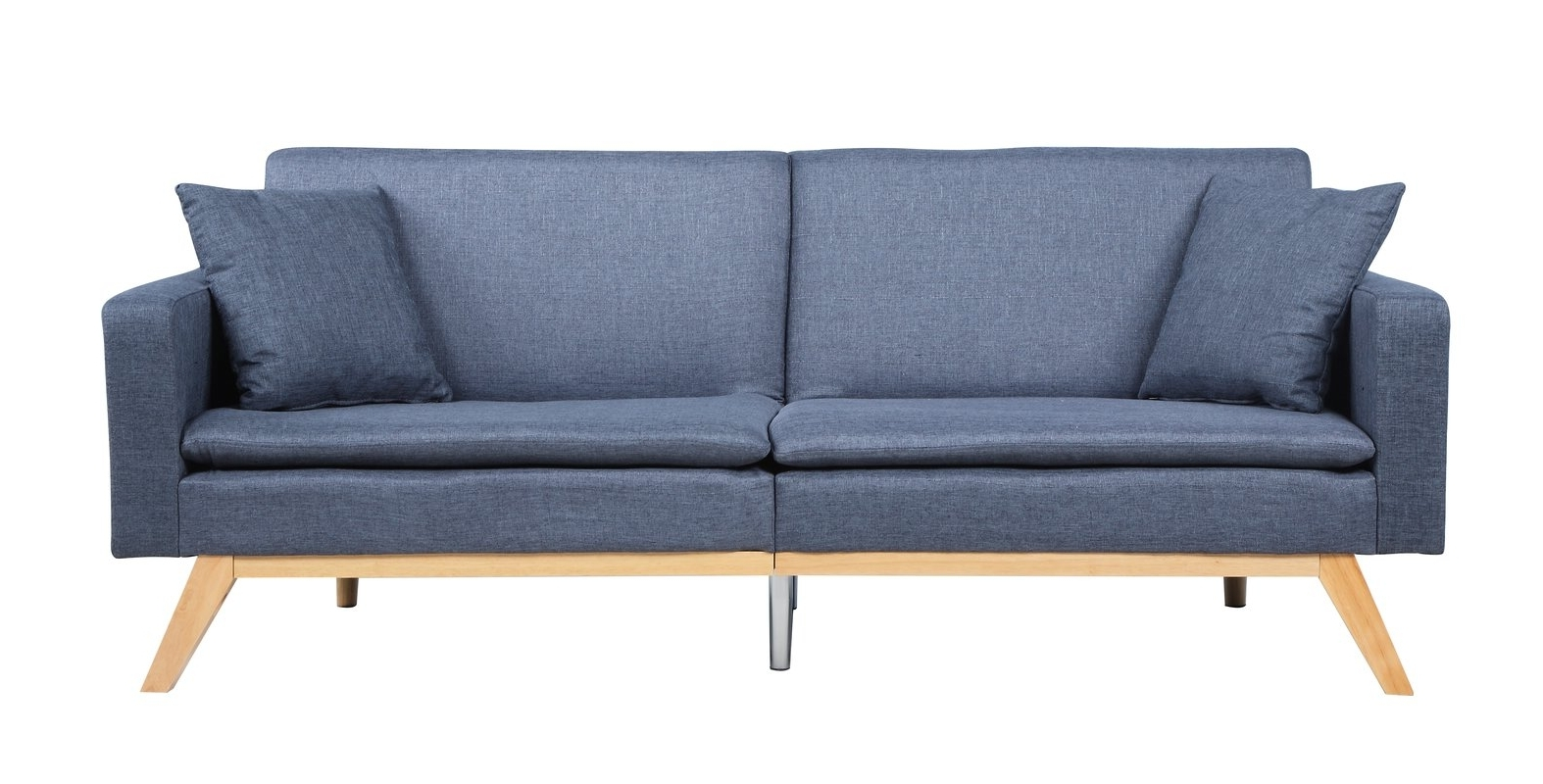 Newest Tufted Linen Sofas Inside Madison Home Usa Modern Tufted Linen Splitback Recliner Sofa (View 7 of 15)