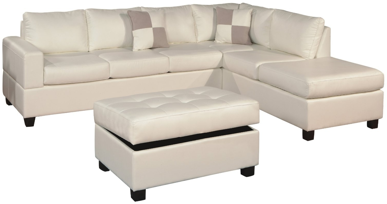 Newest White Color Modern Tufted Leather Chaise Lounge Sofa Bed With Within Leather Chaise Lounge Sofa Beds (View 8 of 15)