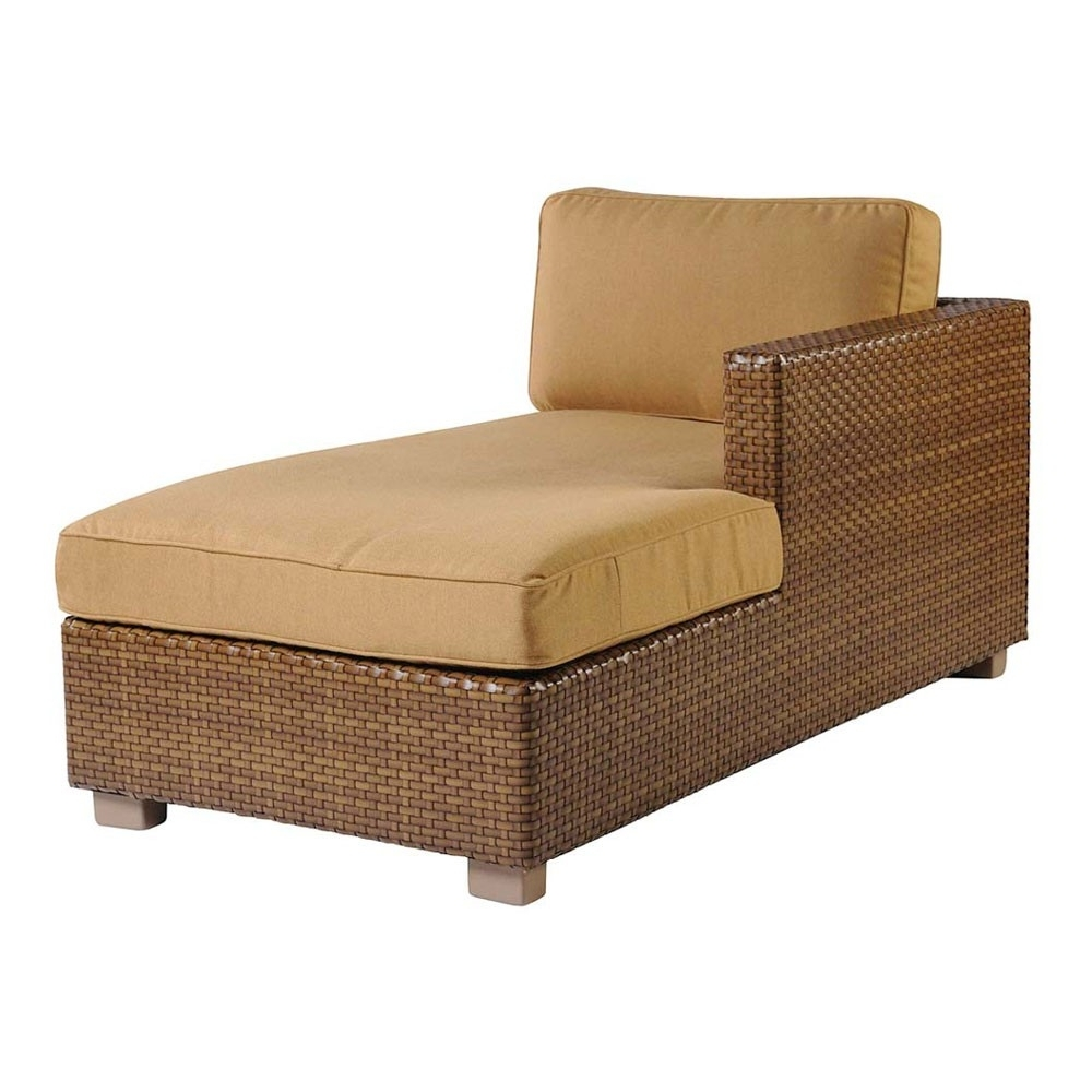 Newest Whitecraftwoodard Sedona Wicker Sectional Chaise Lounge Inside Rattan Chaise Lounges (View 7 of 15)