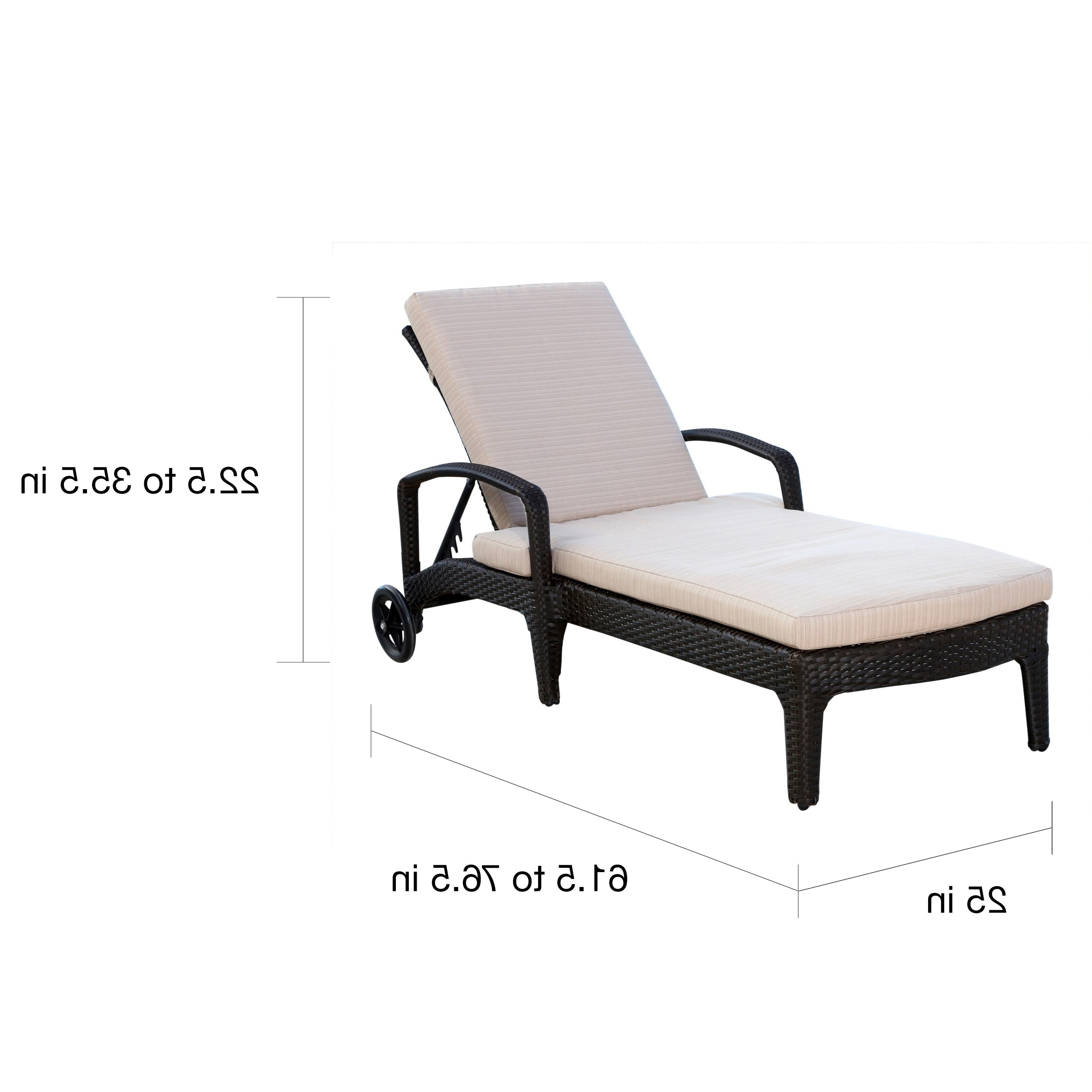Newport Chaise Lounge Chairs Pertaining To Best And Newest Abbyson Newport Outdoor Wicker Chaise Lounge – Free Shipping Today (View 9 of 15)