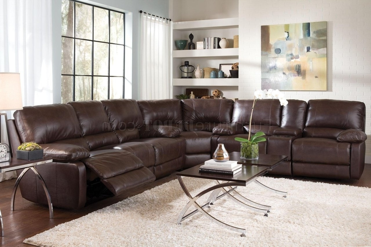 Nh Sectional Sofas Pertaining To Preferred 600021 Geri Sectional Sofa In Top Grain Leather Matchcoaster (View 11 of 15)
