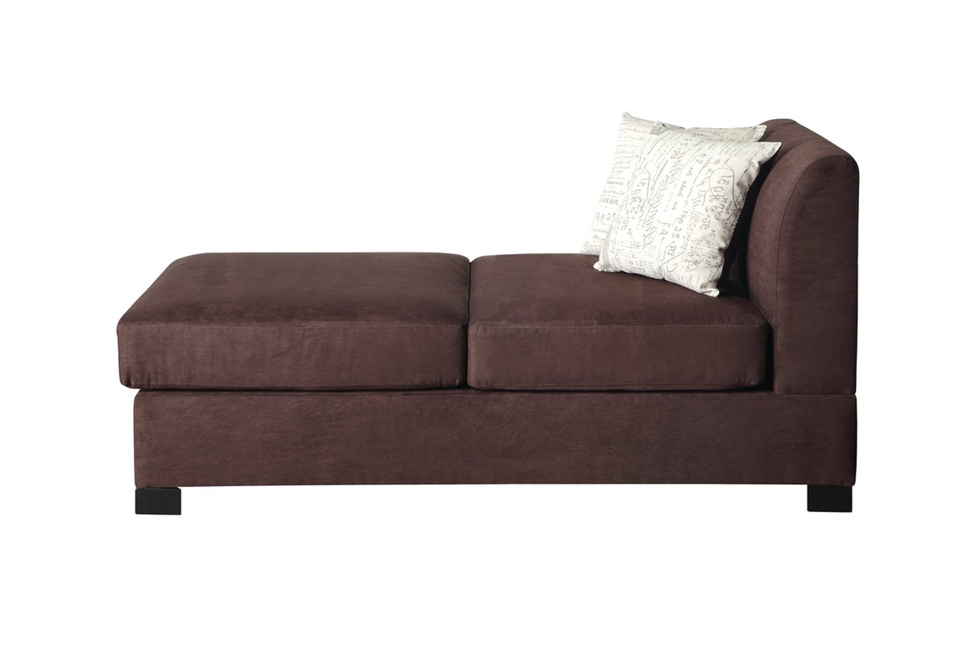 Nia Brown Fabric Chaise Lounge – Steal A Sofa Furniture Outlet Los Pertaining To Trendy Loveseats With Chaise Lounge (View 12 of 15)