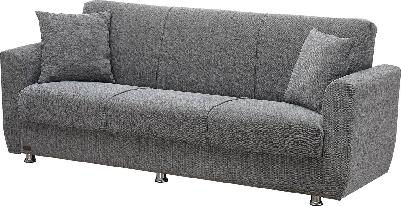 Niagara Sectional Sofas Intended For Favorite Sofa Bed Convertible In Grey Fabric W/optionsempire (View 7 of 15)
