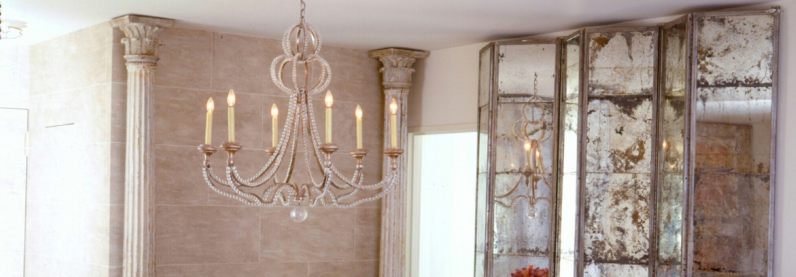 Niermann Weeks Lighting, Furniture And Accessories Within Newest Antique Mirror Chandelier (View 12 of 15)