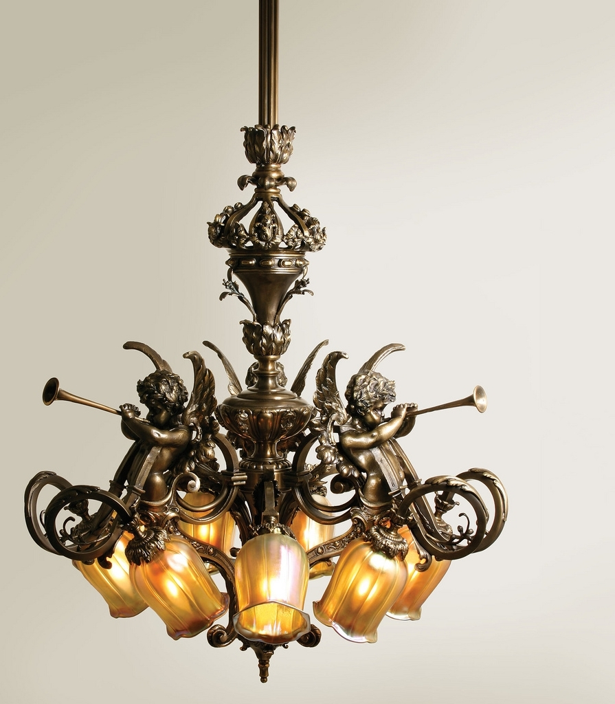 Nine Light Chandelier With Intri… (View 8 of 15)