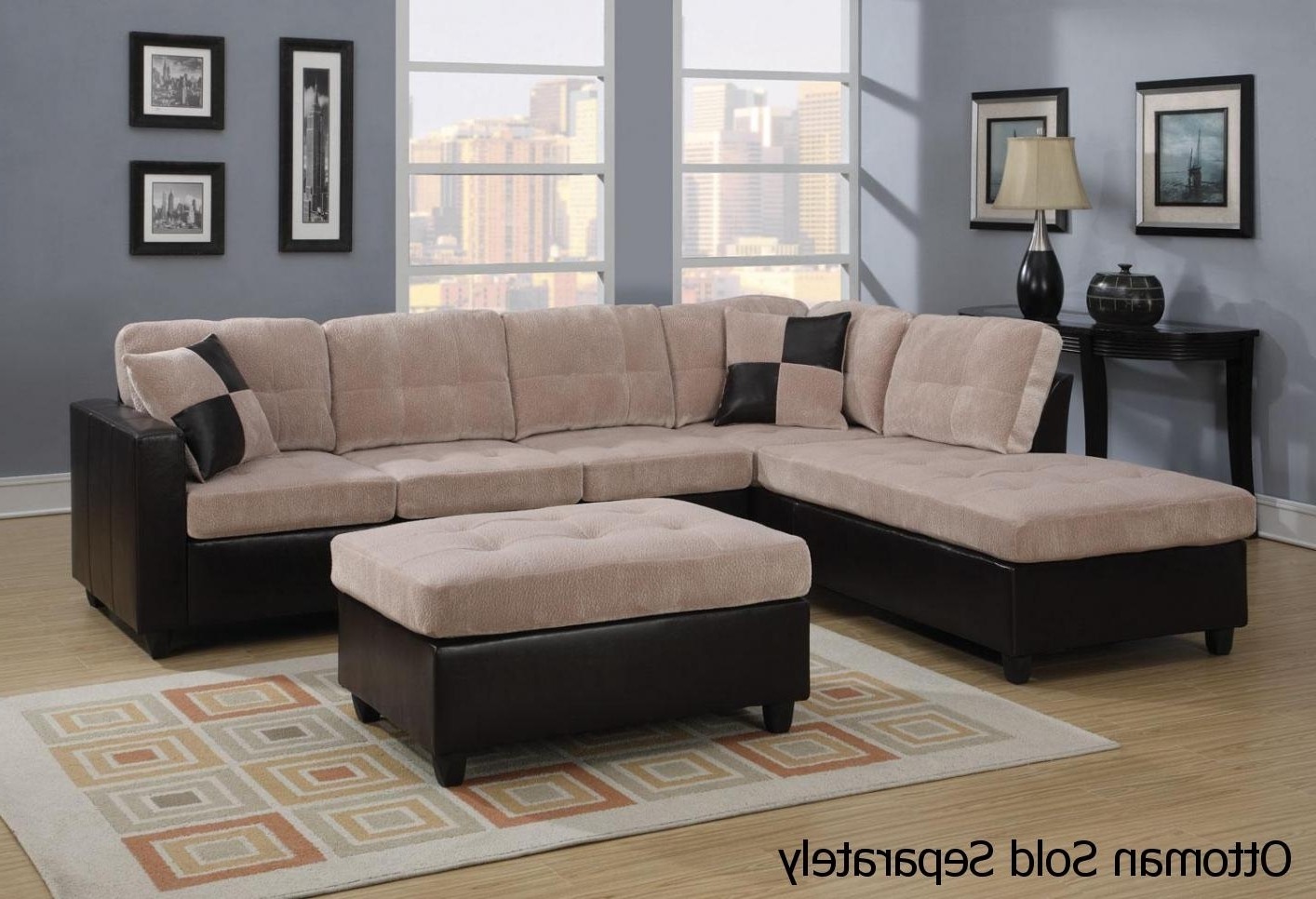 Nj Sectional Sofas Inside Current Mallory Beige Leather Sectional Sofa – Steal A Sofa Furniture (View 7 of 15)