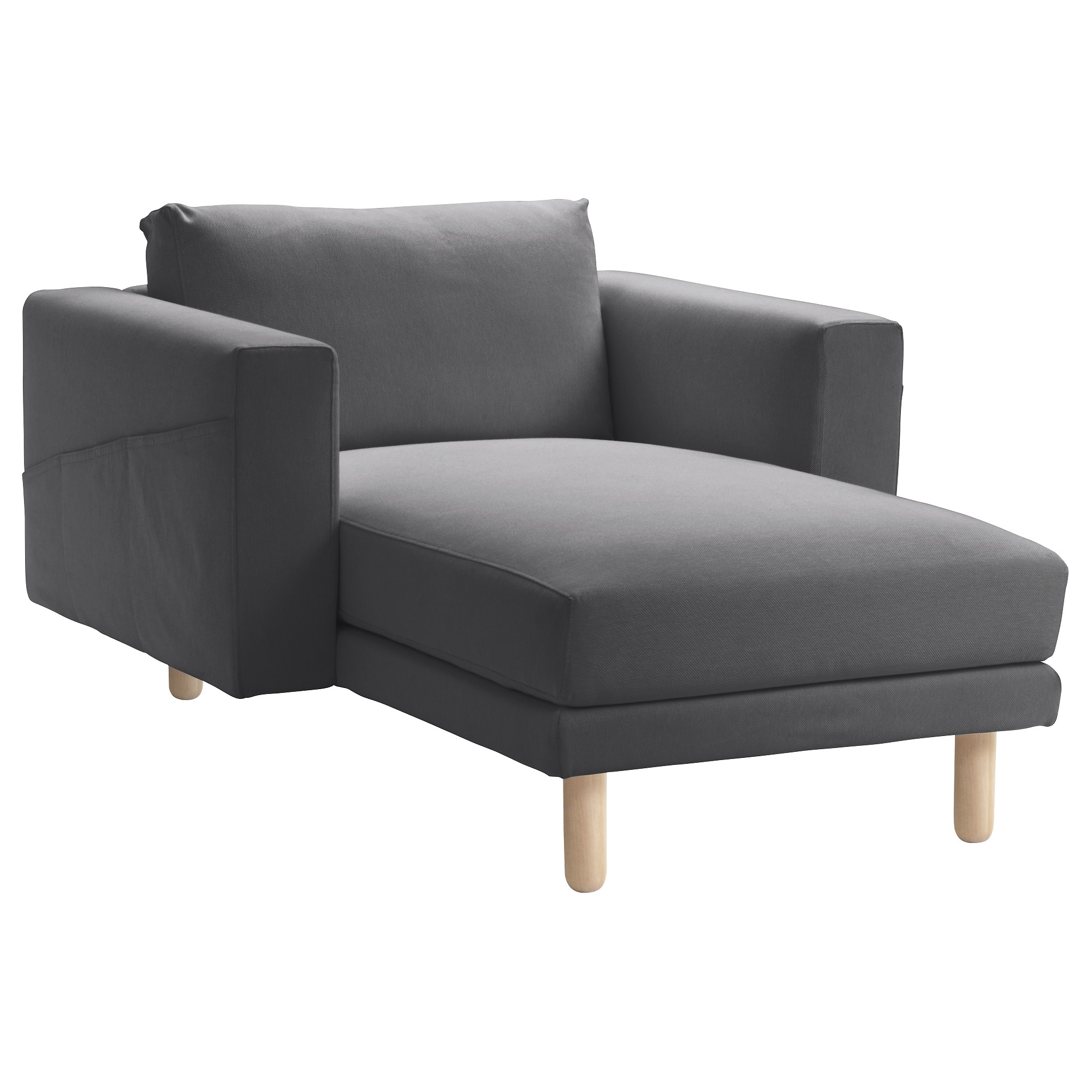 Norsborg Chaise Longue Finnsta Dark Grey/birch – Ikea Within Latest Ikea Chaise Longues (View 11 of 15)