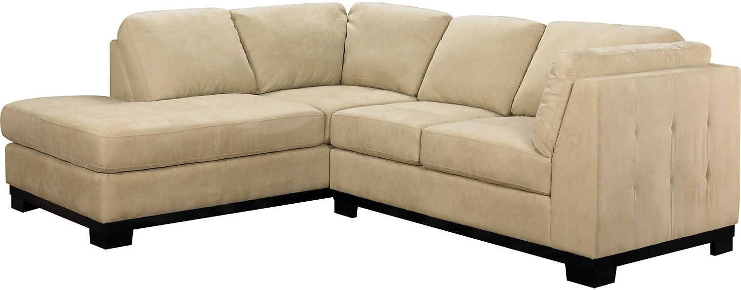 Oakdale 2 Piece Microsuede Sectional W/right Facing Chaise Within Preferred Sectional Sofas At Brick (View 7 of 15)