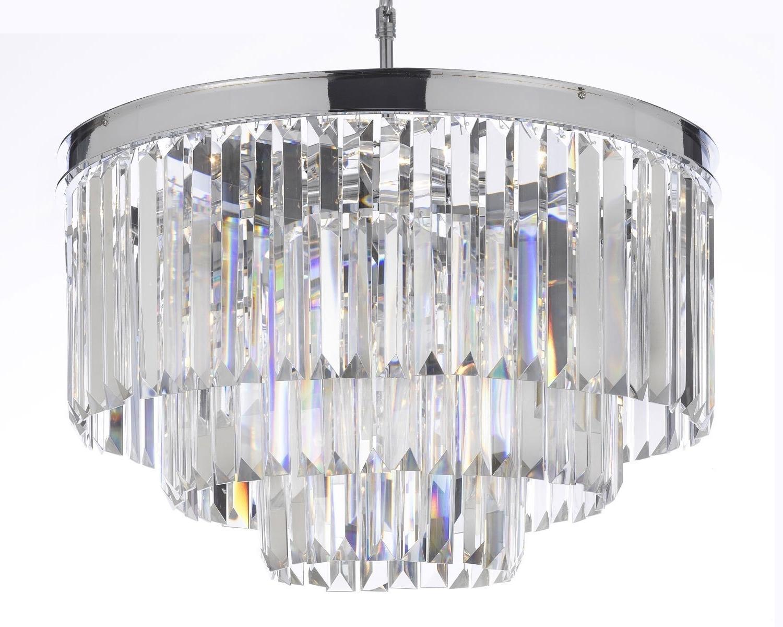 Odeon Empress Crystal (Tm) Glass Fringe 3 Tier Chandelier Intended For Recent 3 Tier Crystal Chandelier (View 10 of 15)