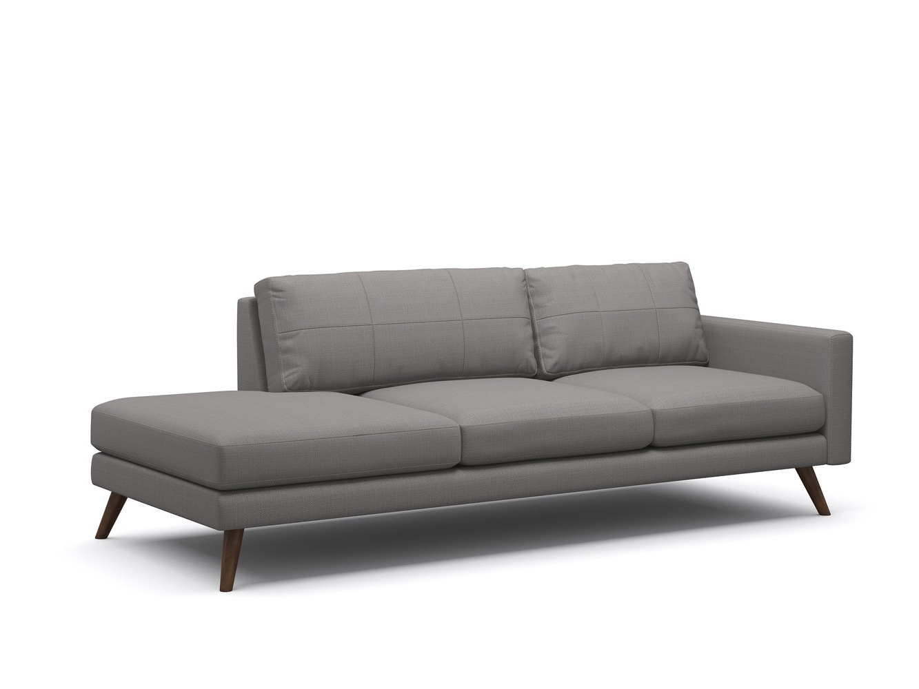 One Arm Chaises Pertaining To Fashionable Dane One Arm Sofa With Chaise Sofa – Truemodern™ (View 9 of 15)