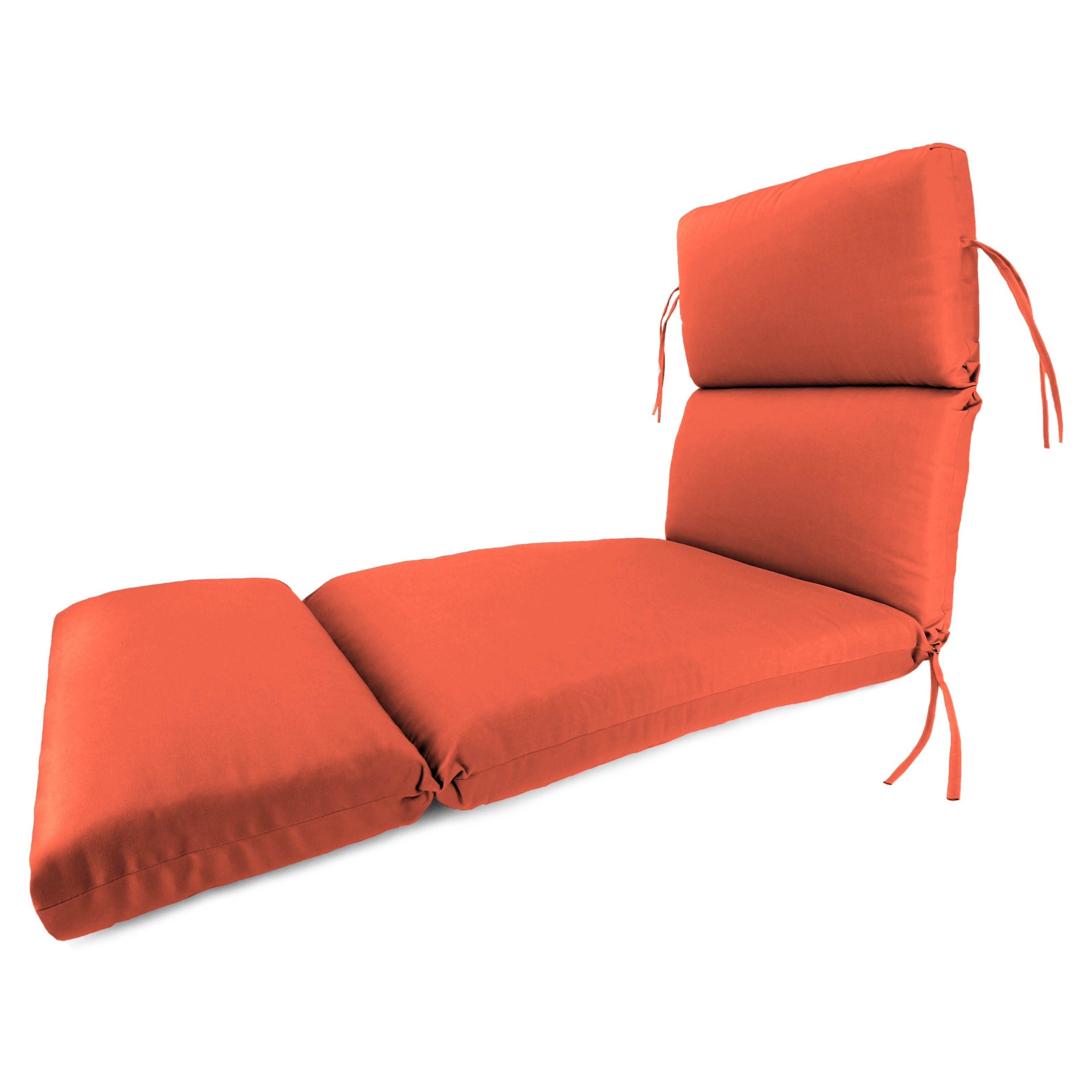 Orange Chaise Lounge Cushions Decoration (View 11 of 15)