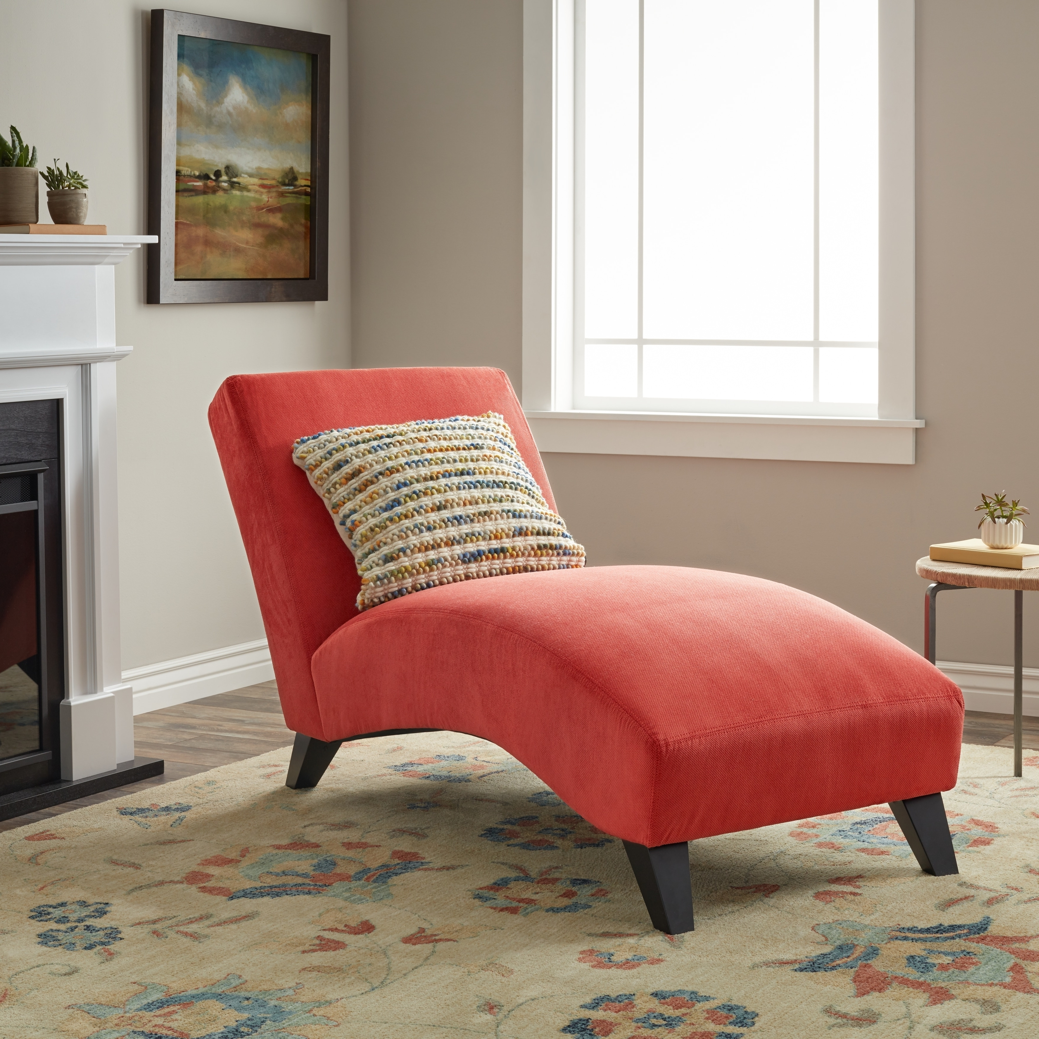Orange Chaise Lounges with regard to Most Popular Clay Alder Home Bella Orange-Paprika Chaise Lounge - Free Shipping