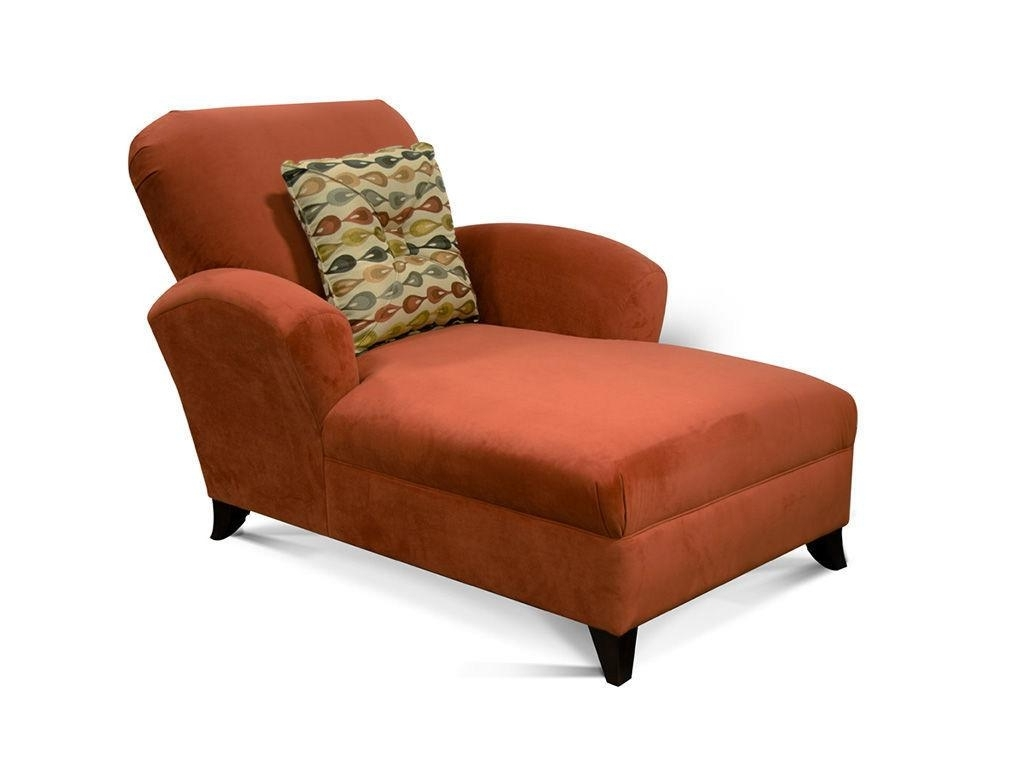 Orange Fabric Chaise Lounge With Back And Double Arms Also Four In Famous Chaise Lounges With Arms (View 10 of 15)