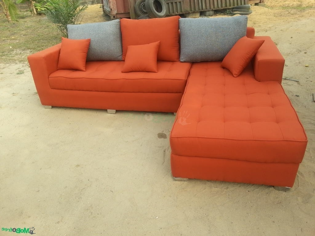 Orange Sectional Sofas With Latest Luxury Burnt Orange Leather Sectional Sofa – Buildsimplehome (View 13 of 15)