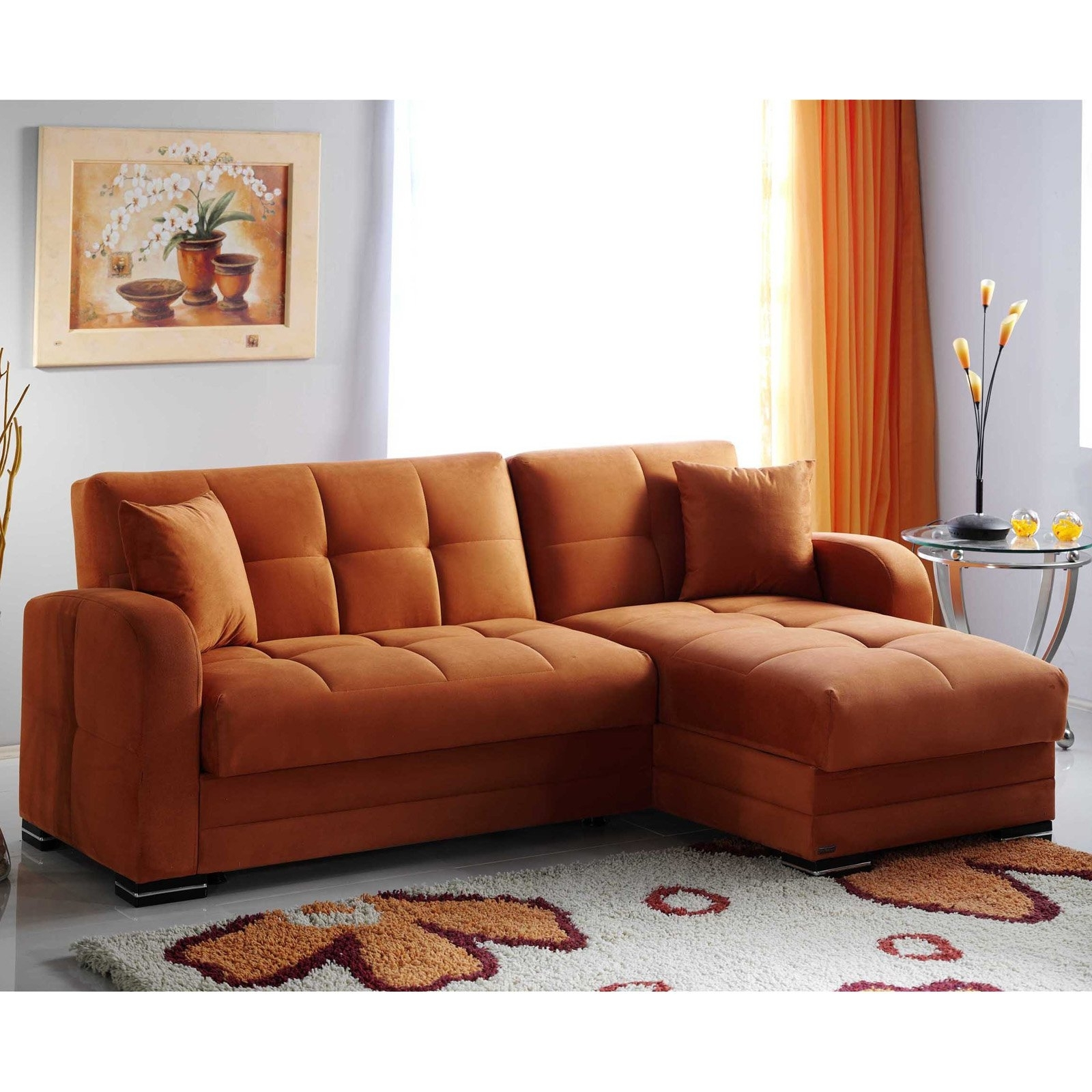 Orange Sectional Sofas With Regard To Favorite Kubo Sectional Sofa (View 11 of 15)