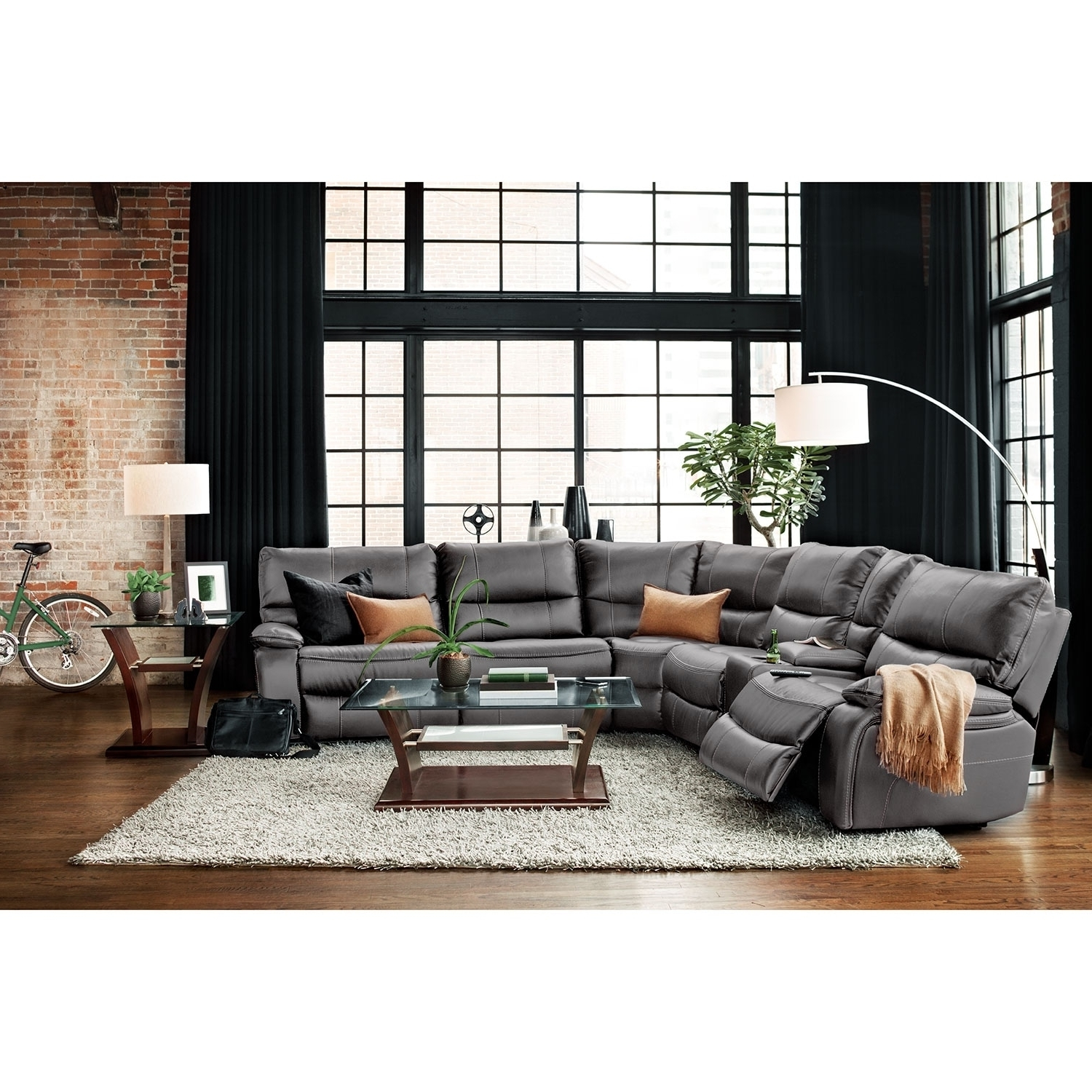 Orlando Sectional Sofas In Best And Newest Orlando 6 Piece Power Reclining Sectional With 1 Stationary Chair (View 8 of 15)