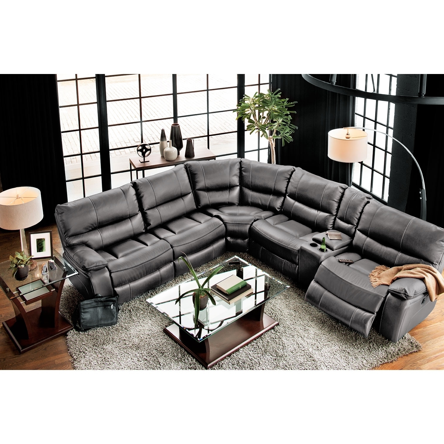 Orlando Sectional Sofas With Most Recently Released Orlando 6 Piece Power Reclining Sectional With 1 Stationary Chair (View 3 of 15)