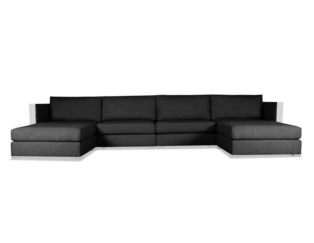 Orren Ellis Steffi Double Chaise Sectional & Reviews (View 9 of 15)