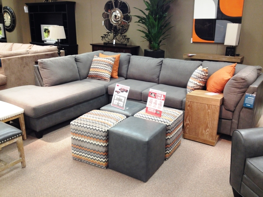 Oshawa Sectional Sofas Throughout 2017 Furniture: Microsuede Sectional Unique Stylish Leather And Suede (View 10 of 15)