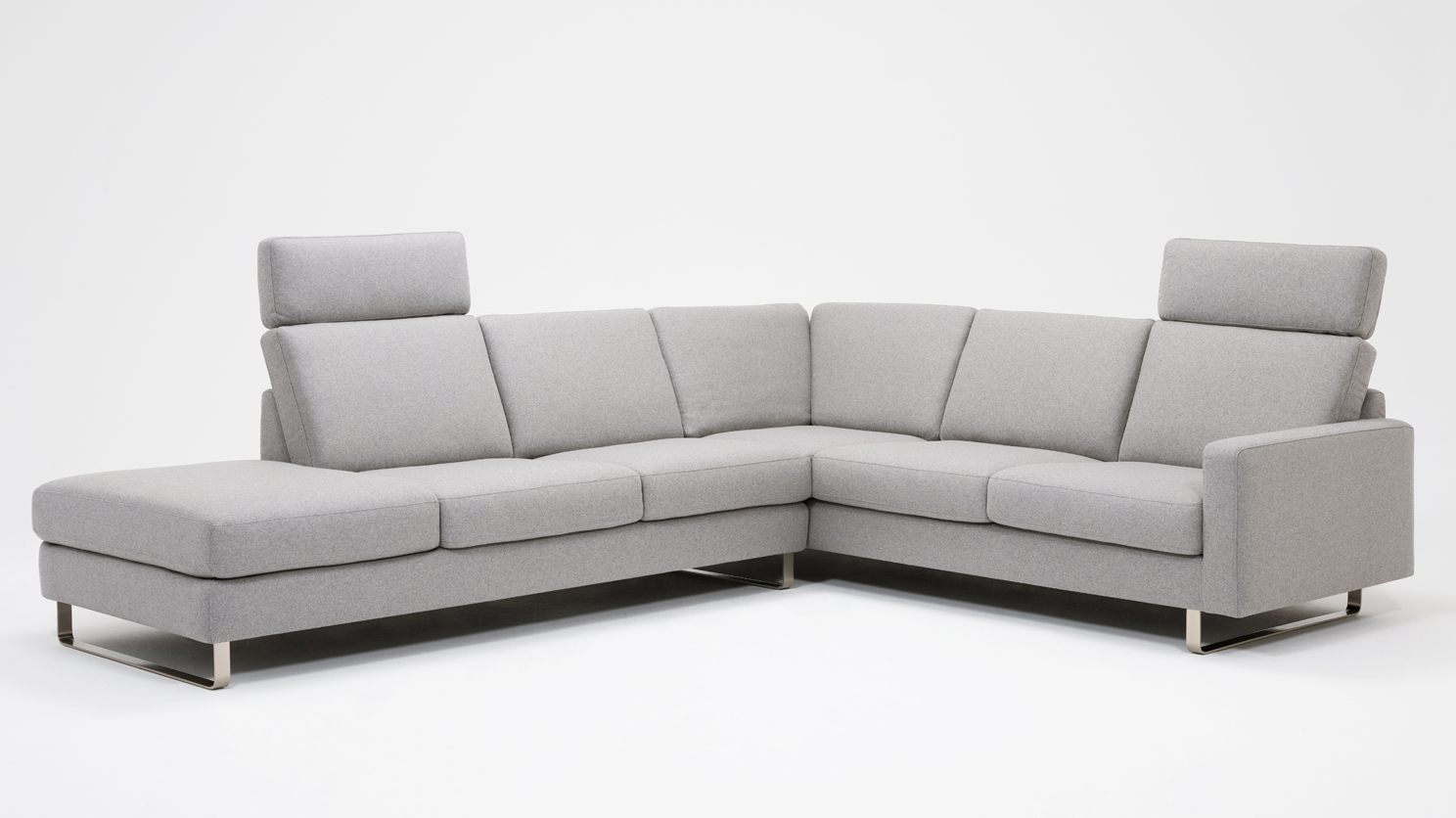 Oskar 2 Piece Sectional Sofa With Headrests – Fabric Within Eq3 Sectional Sofas (View 14 of 15)