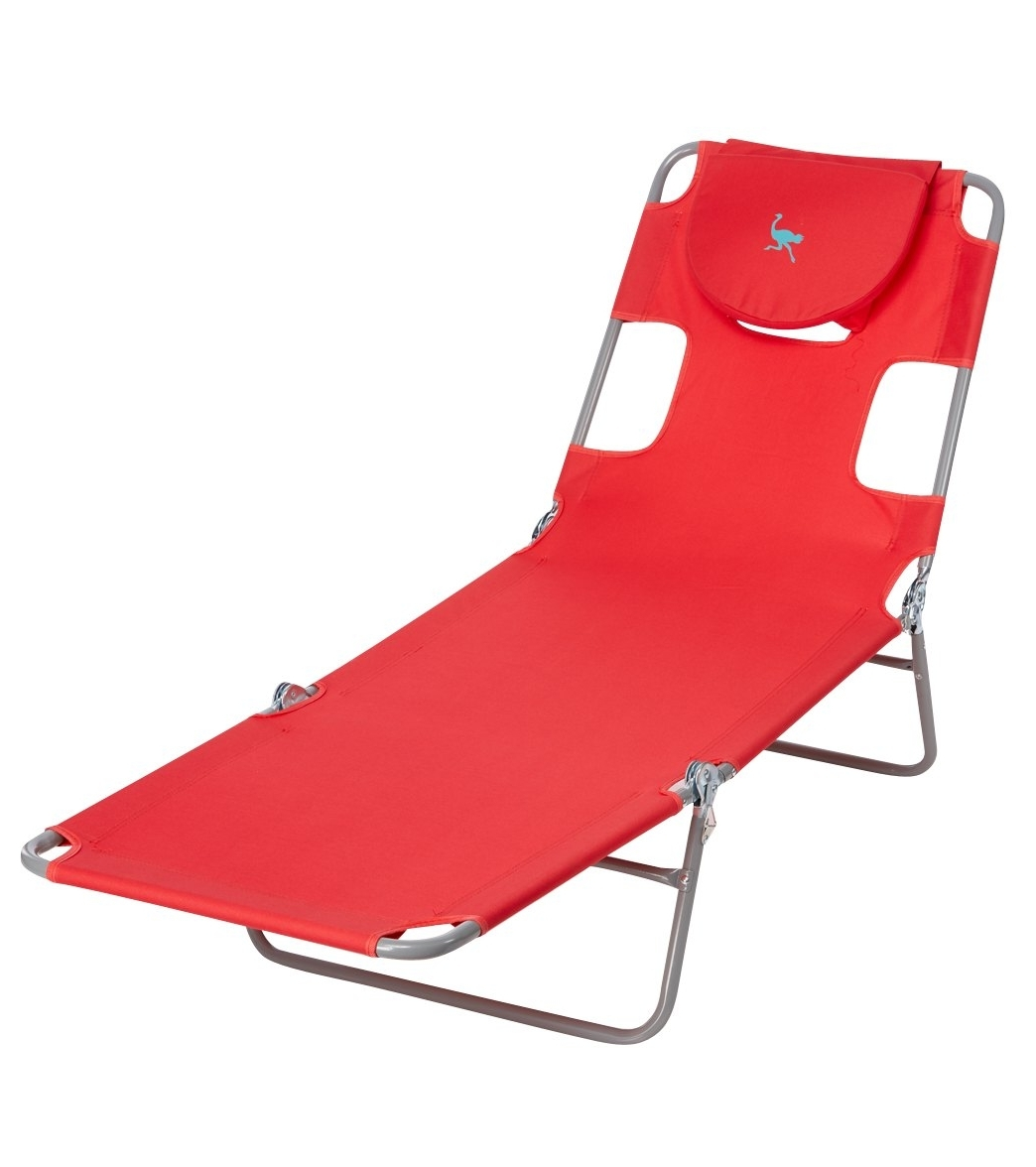 Ostrich Face Down Chaise Lounge At Swimoutlet – Free Shipping With Widely Used Chaise Lounge Chairs With Face Hole (View 12 of 15)