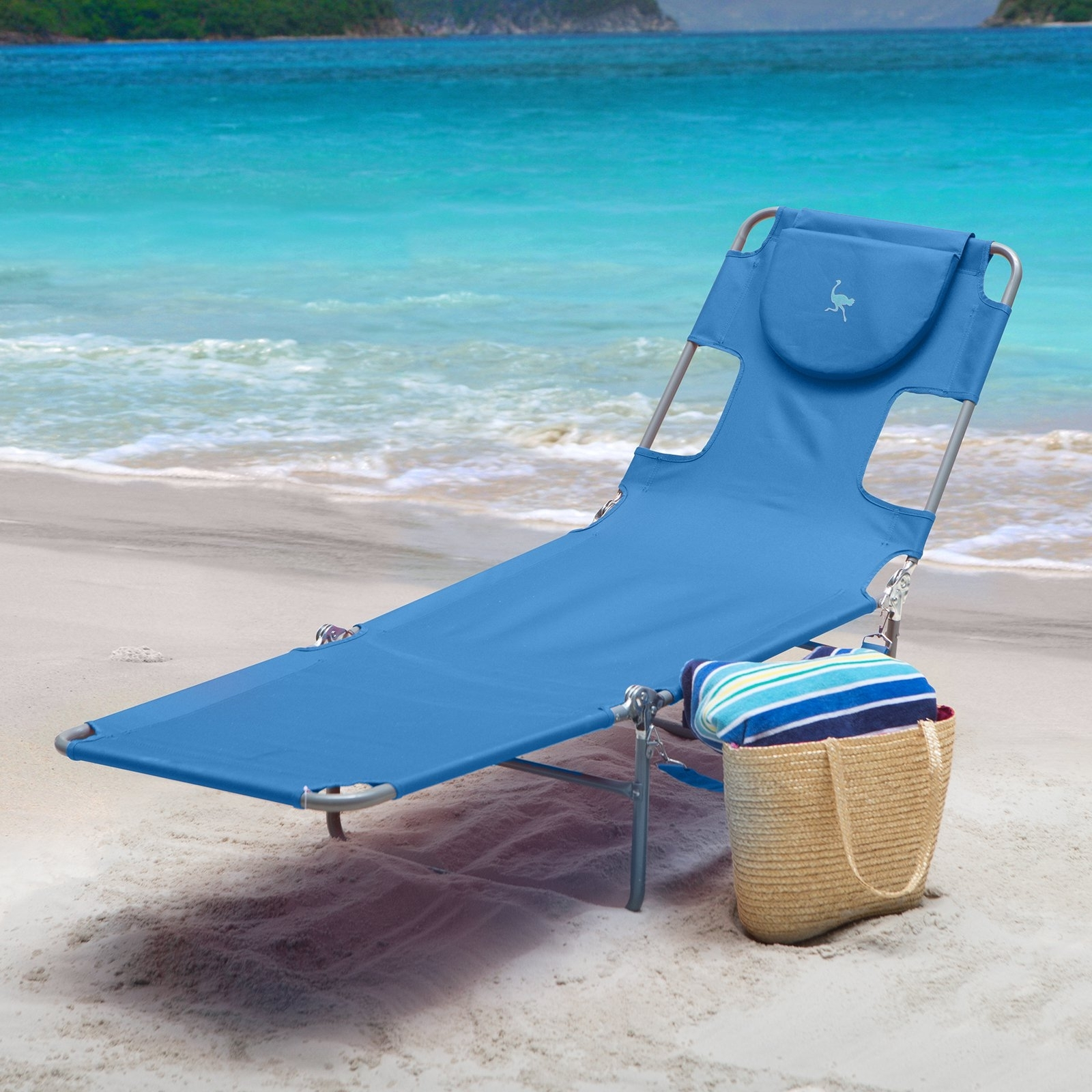 Ostrich Folding Chaise Lounge - Walmart intended for Well known Ostrich Chaise Lounges