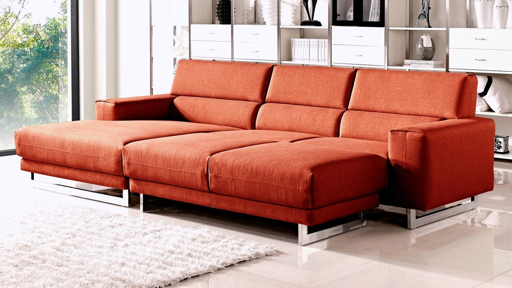 Ottoman Sleeper Sofa, Popular Comfortable Sectional Sofas Fabric Within Trendy Sectional Sleeper Sofas With Ottoman (View 3 of 15)