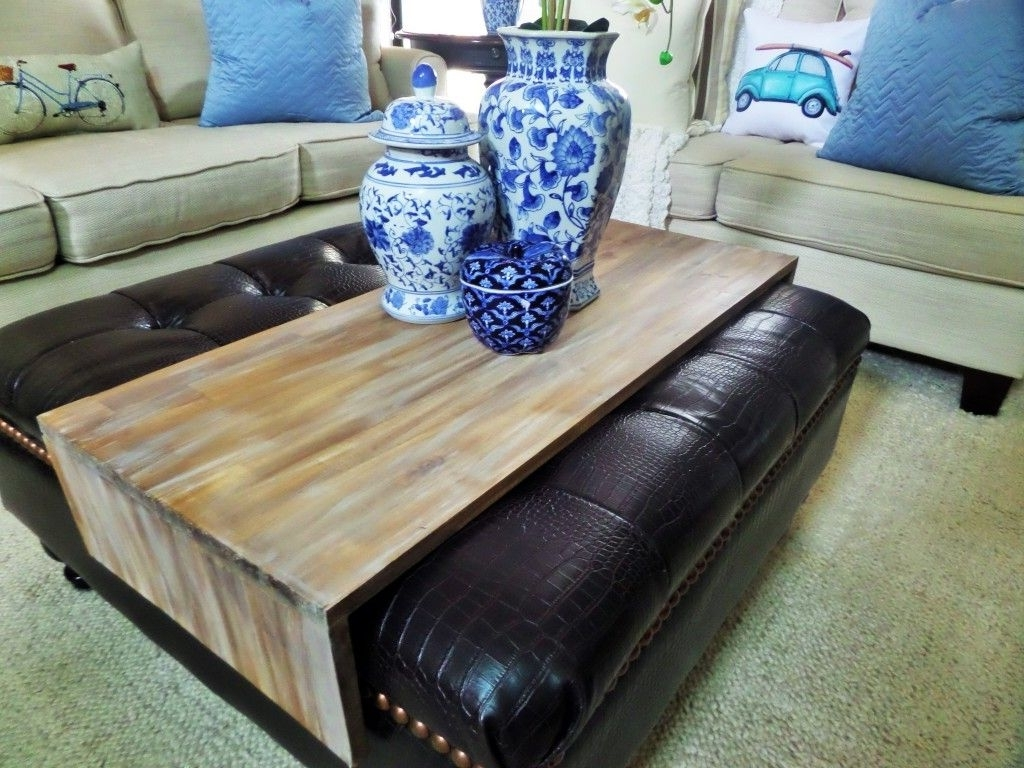 Ottomans With Tray Regarding Recent Diy Wrap Around Ottoman Tray (View 10 of 15)