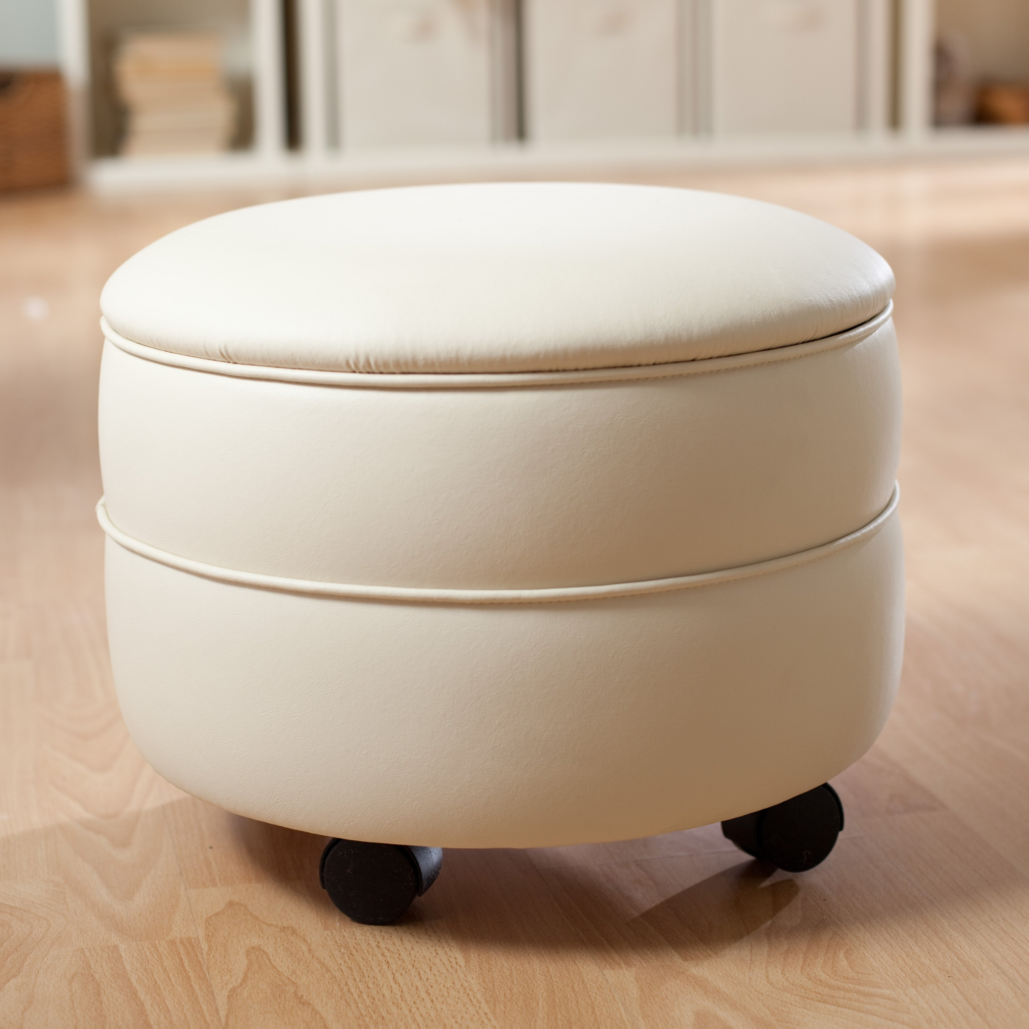 Ottomans With Wheels With Most Up To Date Choosing Ottoman With Wheels – Printableboutique (View 3 of 15)