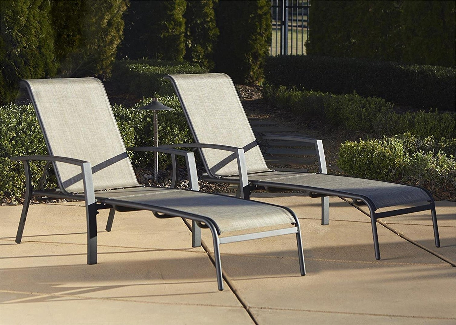 Outdoor Cast Aluminum Chaise Lounge Chairs For Newest Amazon: Cosco Outdoor Adjustable Aluminum Chaise Lounge Chair (View 8 of 15)