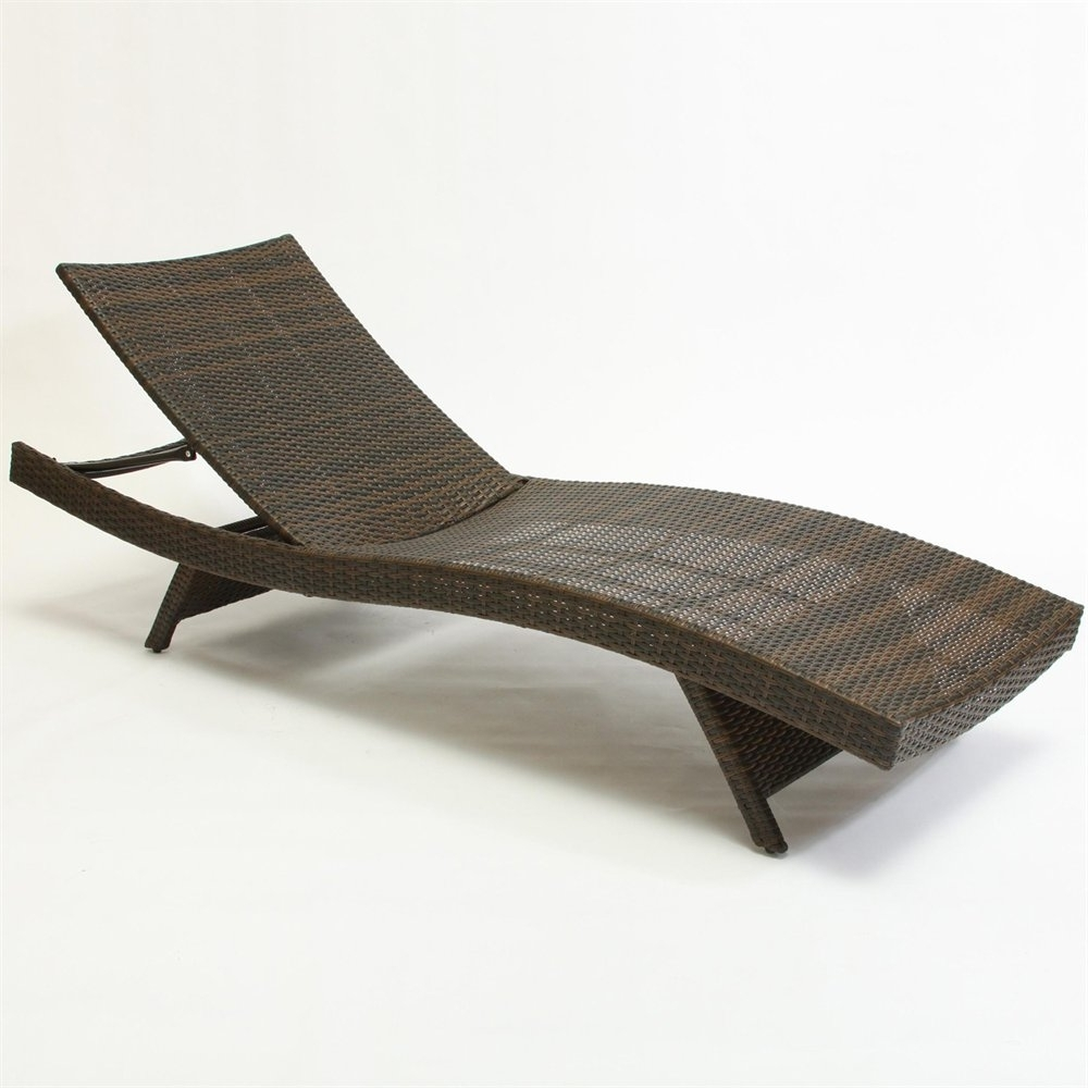 Outdoor Chaise Lounge Chairs In Best And Newest Best Selling Home Decor 234420 Outdoor Wicker Lounge Chair (View 9 of 15)