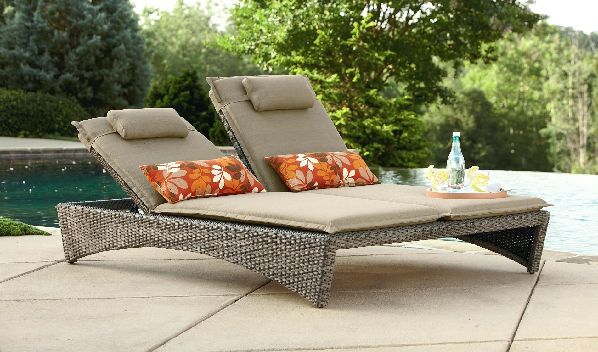 Outdoor Chaise Lounge Chairs Under 100 Awesome Chair For Two With Regard To Best And Newest Chaise Lounge Chairs For Poolside (View 11 of 15)