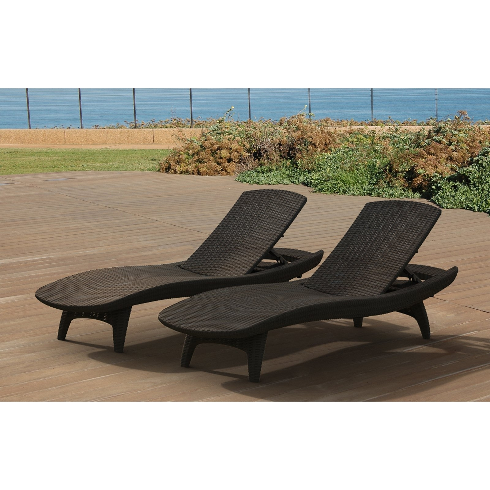 Outdoor Chaise Lounge Chairs Under $200 Inside Current Keter Outdoor Chaise Lounge – Set Of  (View 9 of 15)