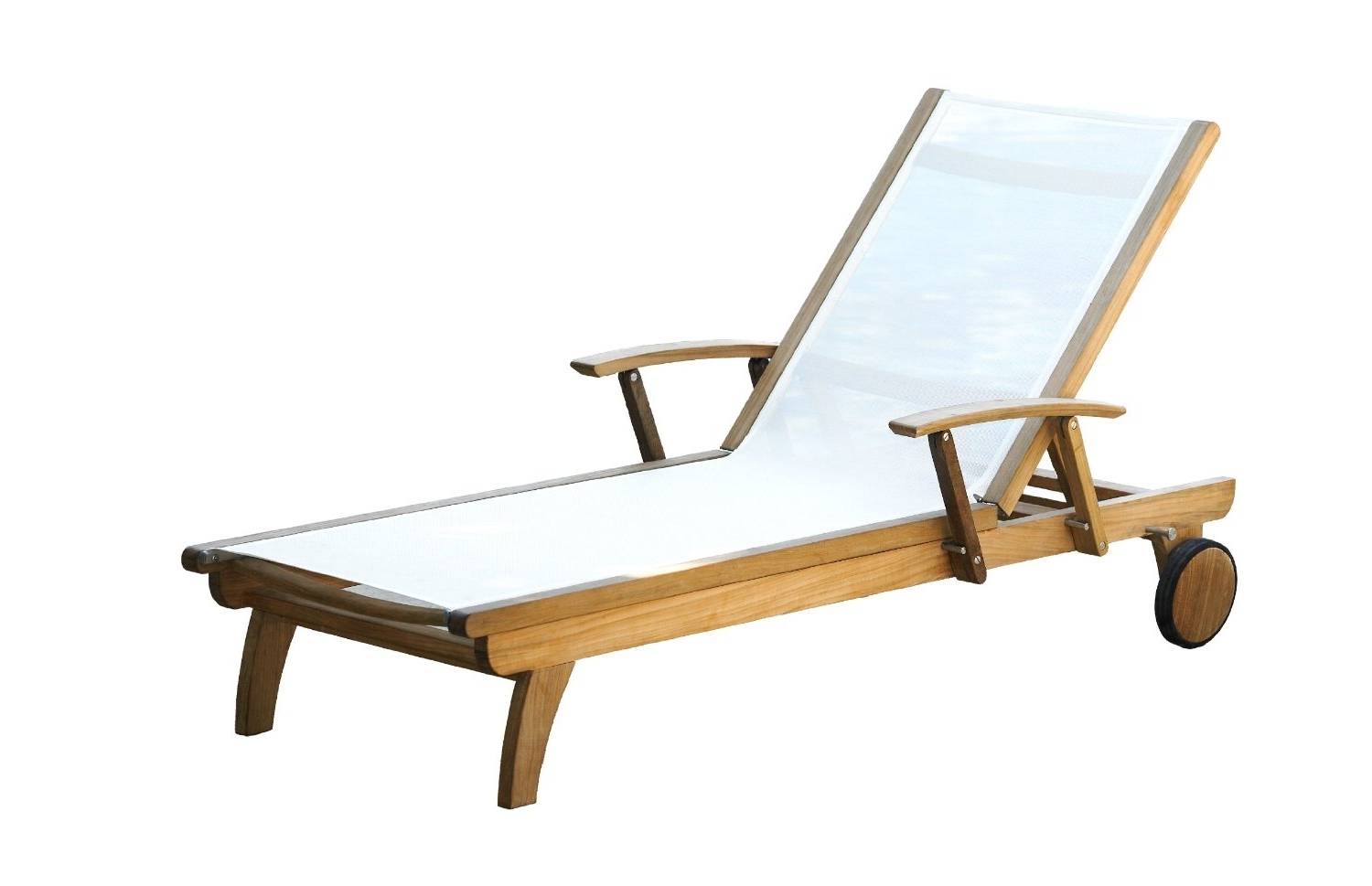 Outdoor Chaise Lounge Chairs With Arms Throughout Well Known Teak Chaise Lounge Chair – Teak Patio Furniture World (View 7 of 15)