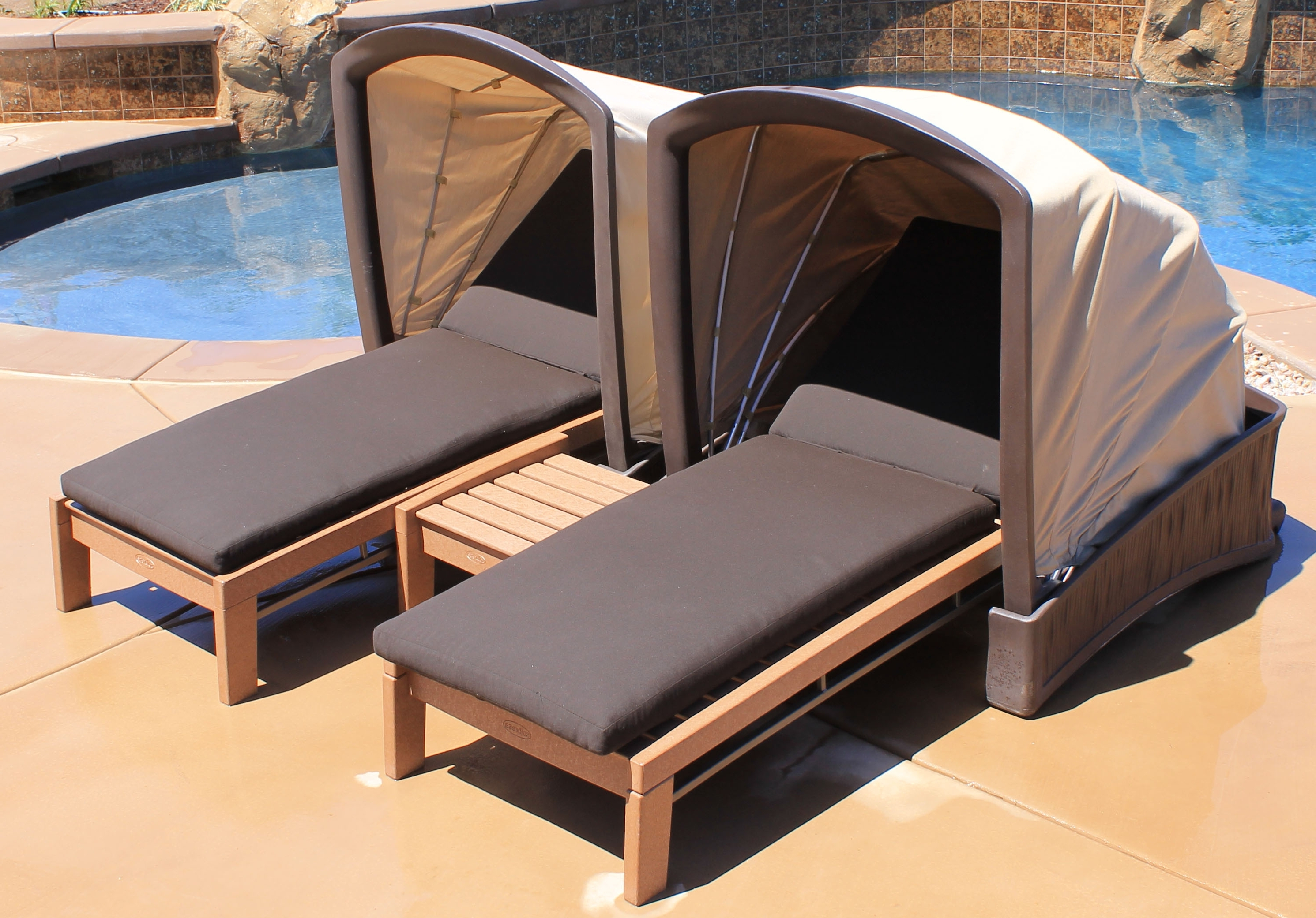 Outdoor Chaise Lounge Chairs With Canopy • Lounge Chairs Ideas Inside 2017 Chaise Lounge Chair With Canopy (View 1 of 15)