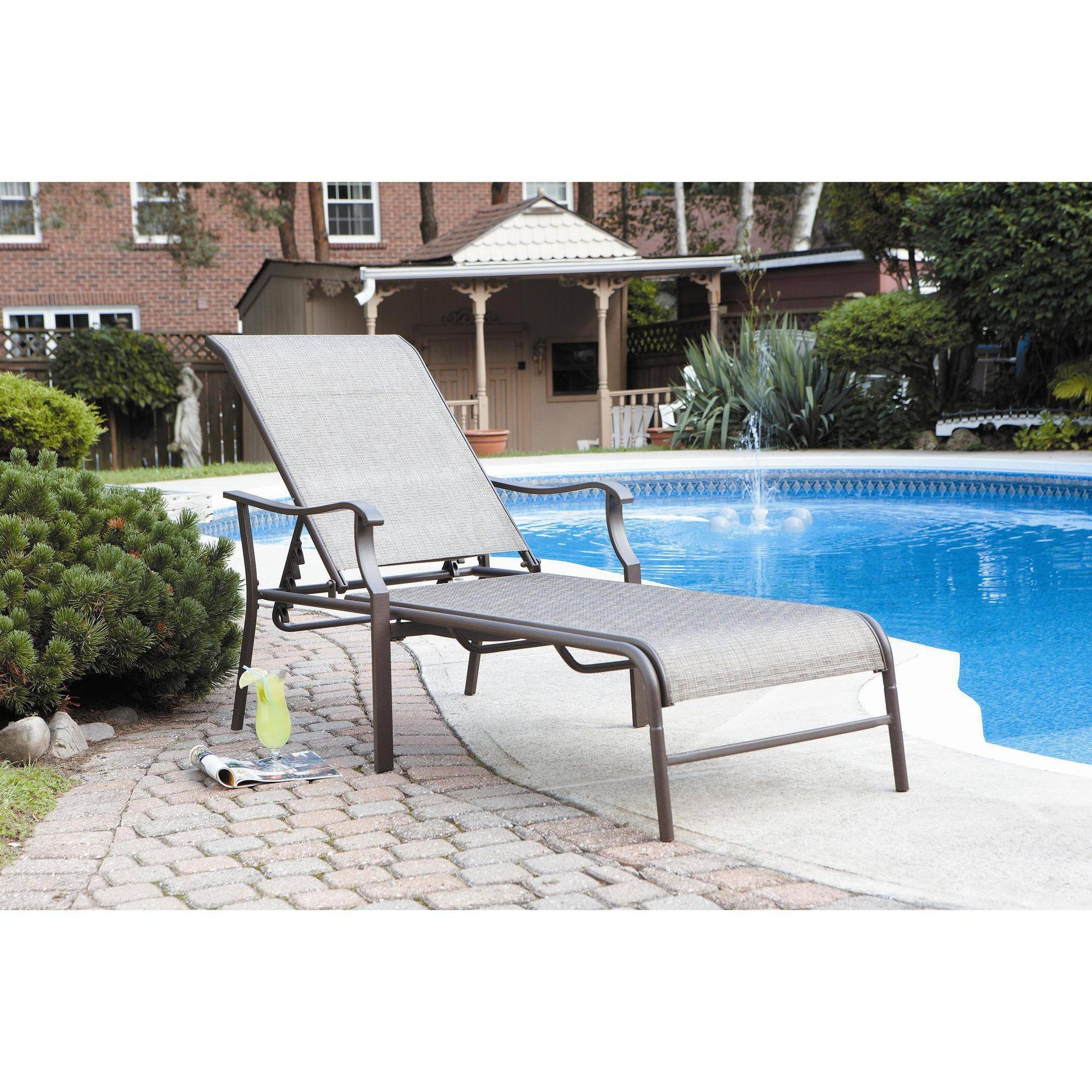 Outdoor Chaise Lounge Chairs With Canopy Throughout 2017 Outdoor : White Outdoor Chaise Lounge Lounge Couch Sun Lounger (View 10 of 15)